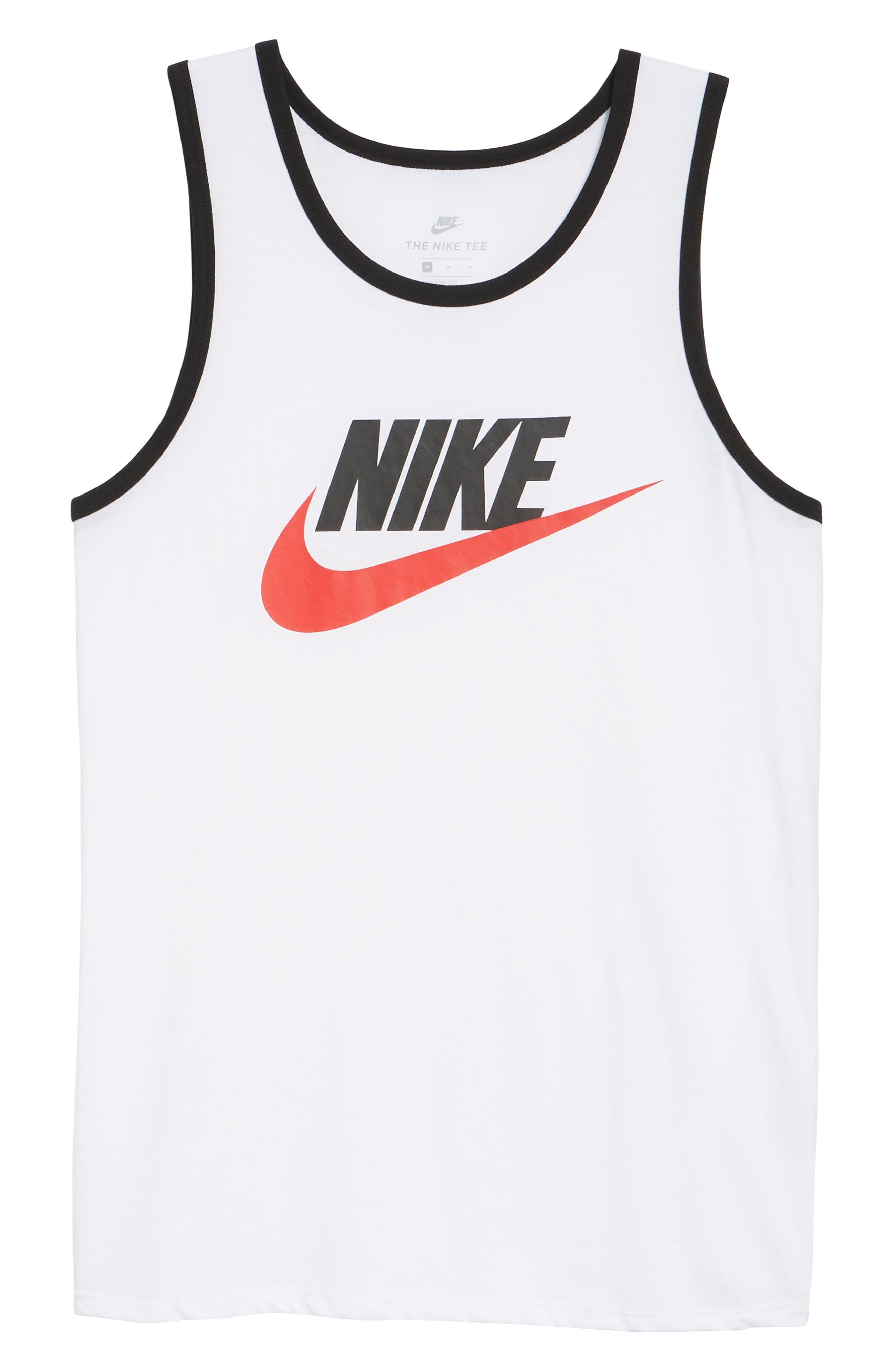'Ace Sportswear Logo' Graphic Tank,                             Alternate thumbnail 6, color,                             WHITE/ BLACK/ UNIVERSITY RED