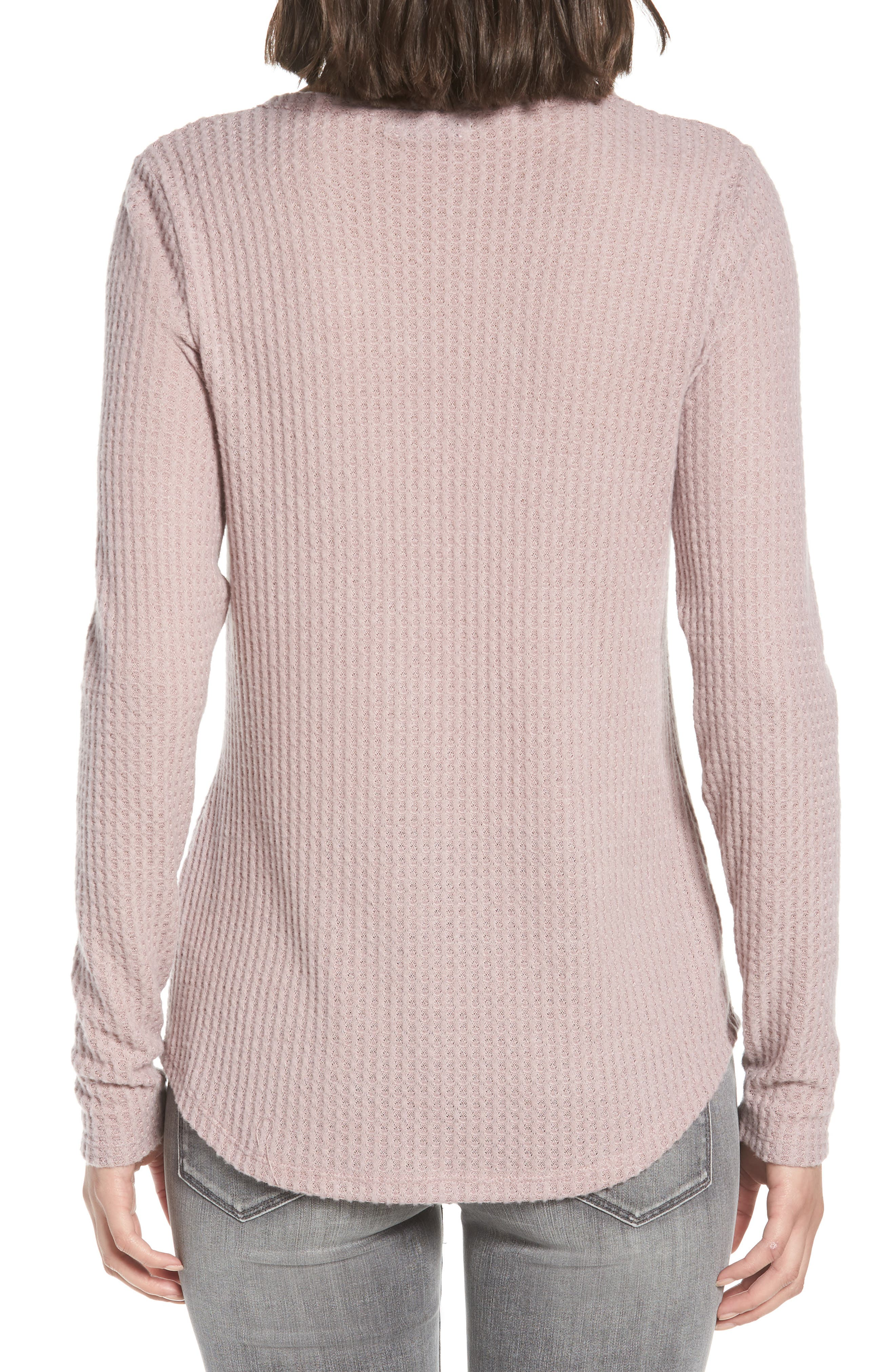Thermal Henley Top,                             Alternate thumbnail 2, color,                             SOFT ROCK