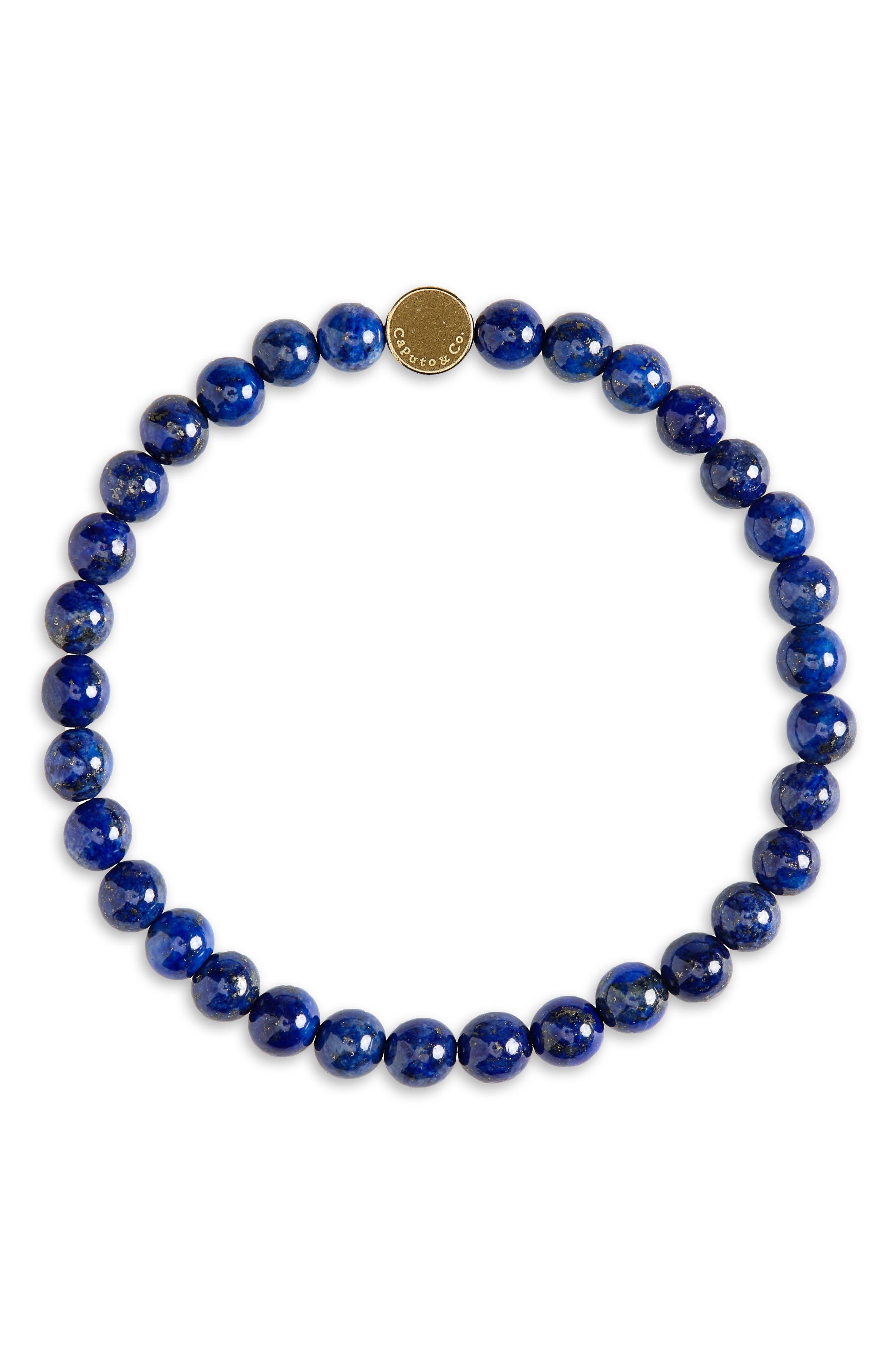 CAPUTO & CO. Stone Bead Bracelet in Lapis Lazuli