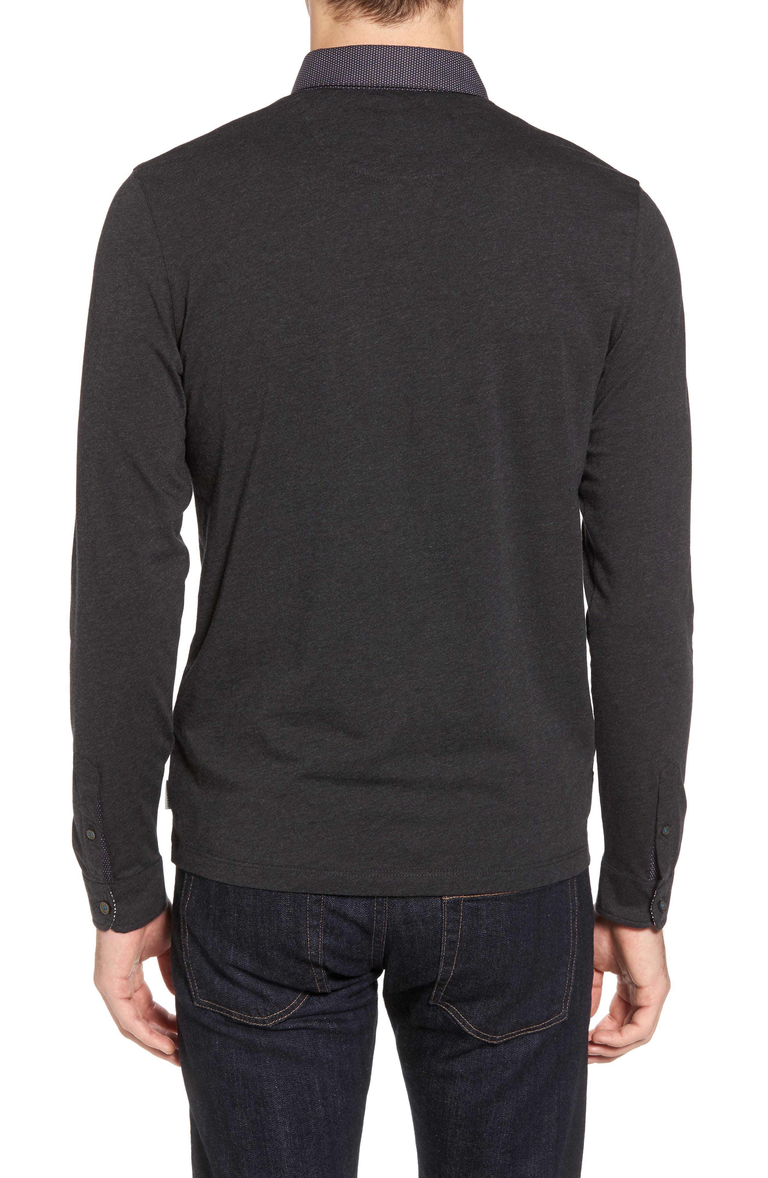 Spresso Long Sleeve Polo,                             Alternate thumbnail 2, color,                             010