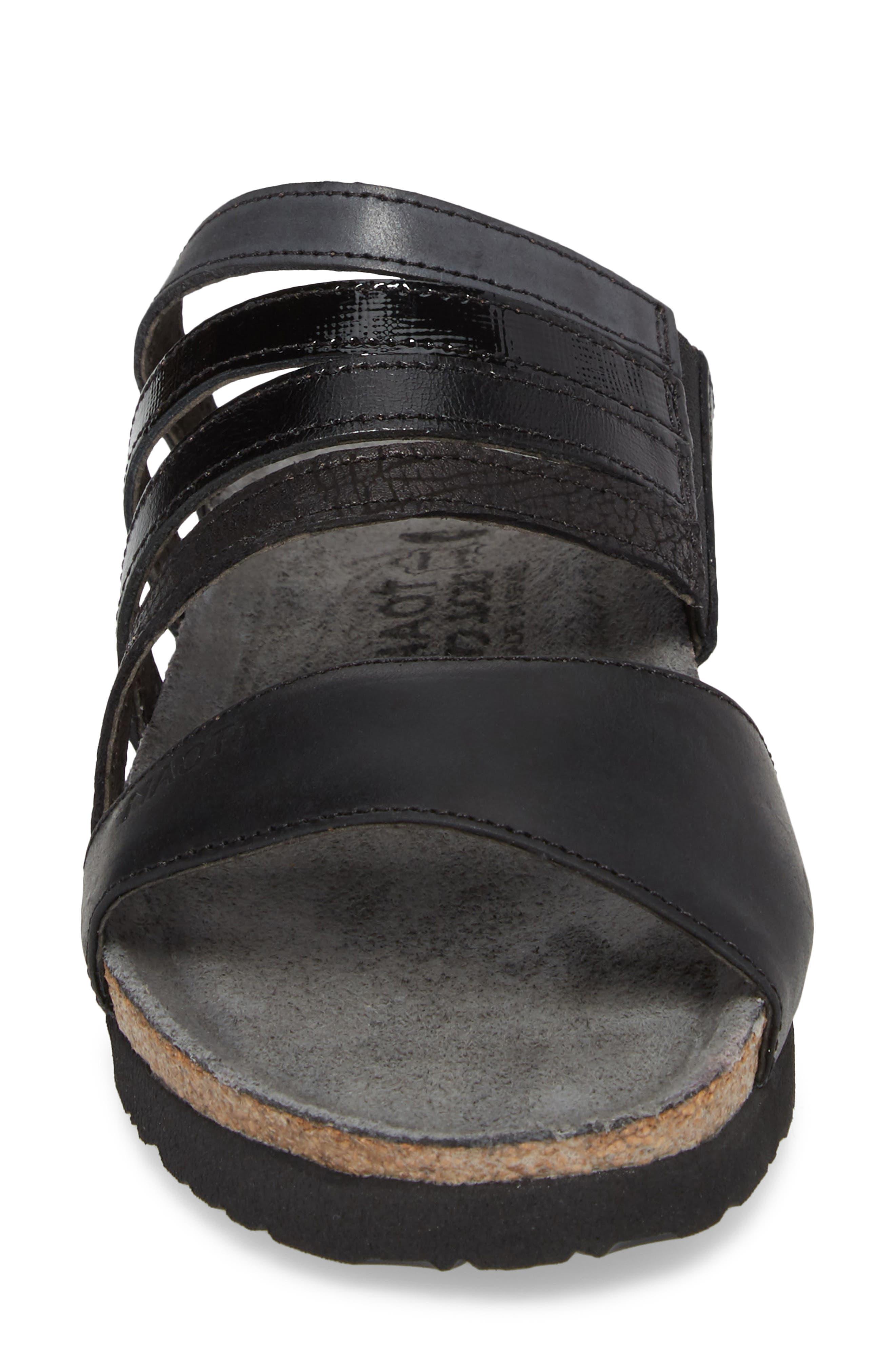 Peyton Slide Sandal,                             Alternate thumbnail 4, color,                             OILY COAL NUBUCK