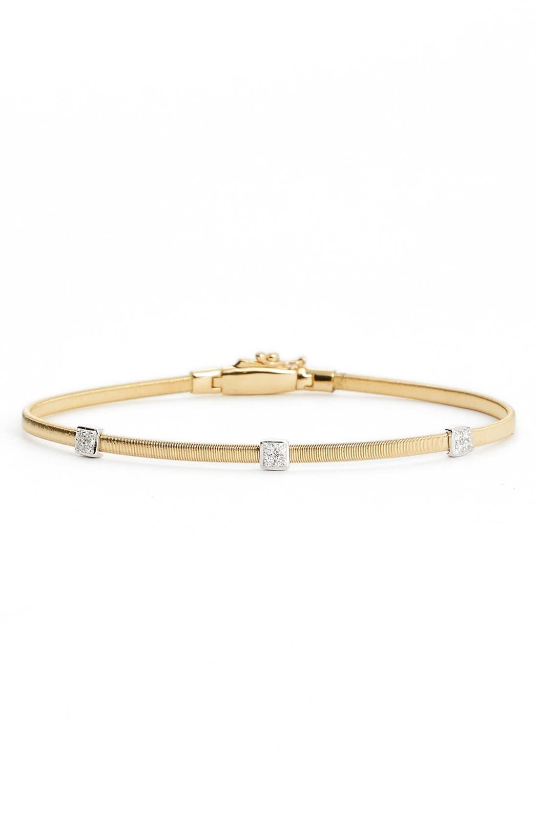 Masai Small Station Diamond Bracelet,                             Main thumbnail 1, color,                             YELLOW GOLD