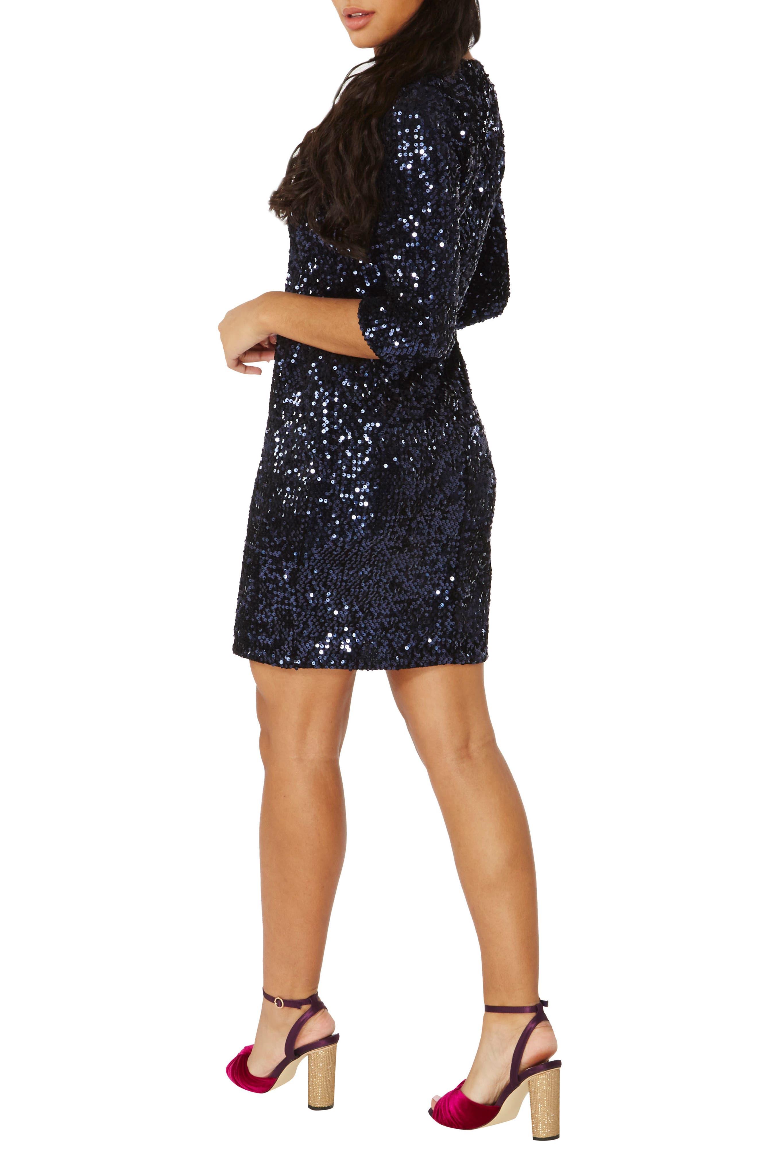 Sequin Body-Con Dress,                             Alternate thumbnail 2, color,                             400