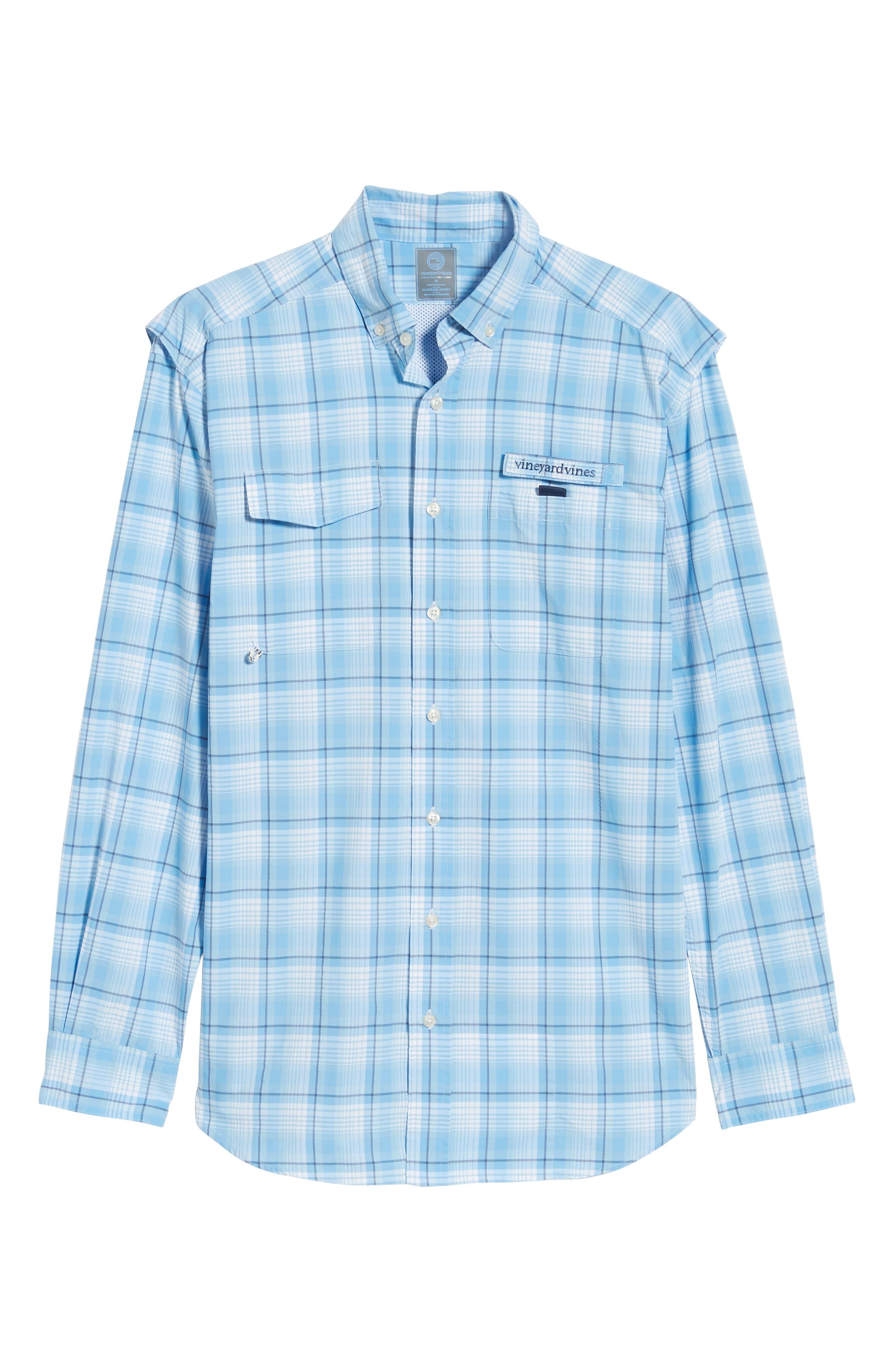 Mariners Way Harbor Regular Fit Performance Sport Shirt,                             Alternate thumbnail 5, color,                             456