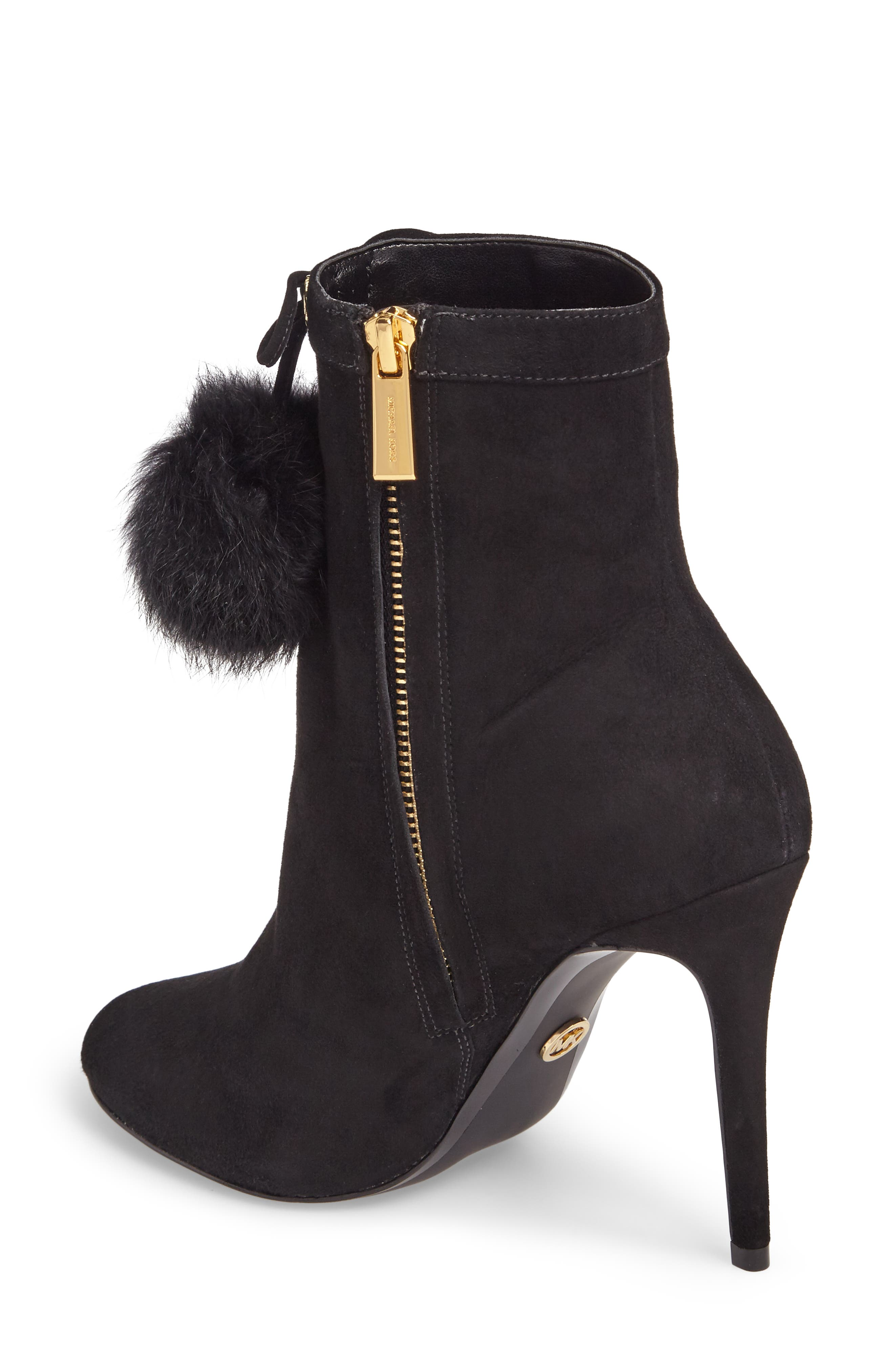 Remi Bootie with Genuine Rabbit Fur Pom,                             Alternate thumbnail 2, color,                             002