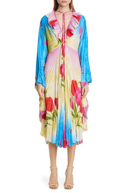 Vetements Dresses HAPPINESS PRINT PLISSE MIDI DRESS