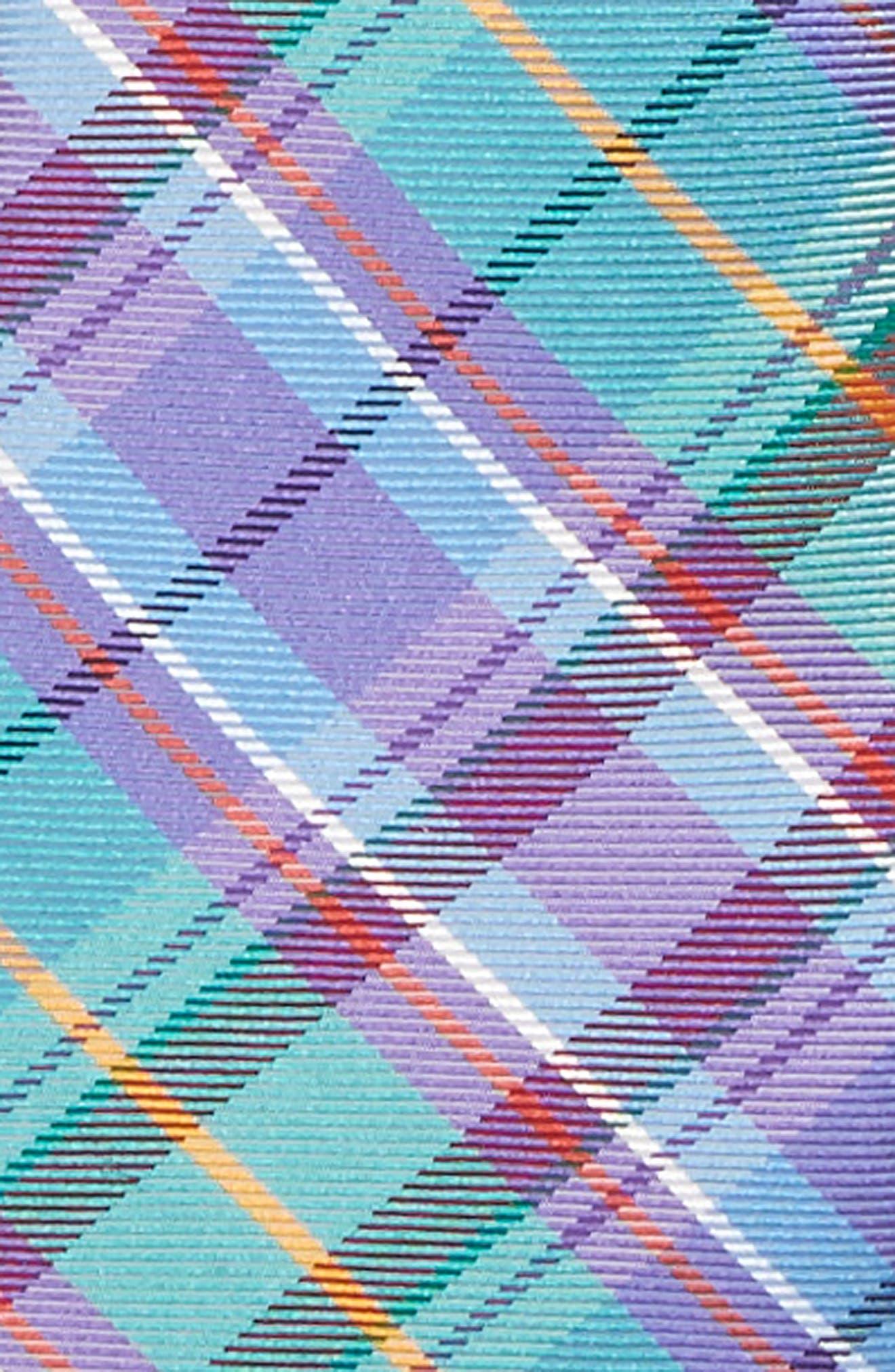 Tartan Plaid Silk Zip Tie,                             Alternate thumbnail 2, color,                             445