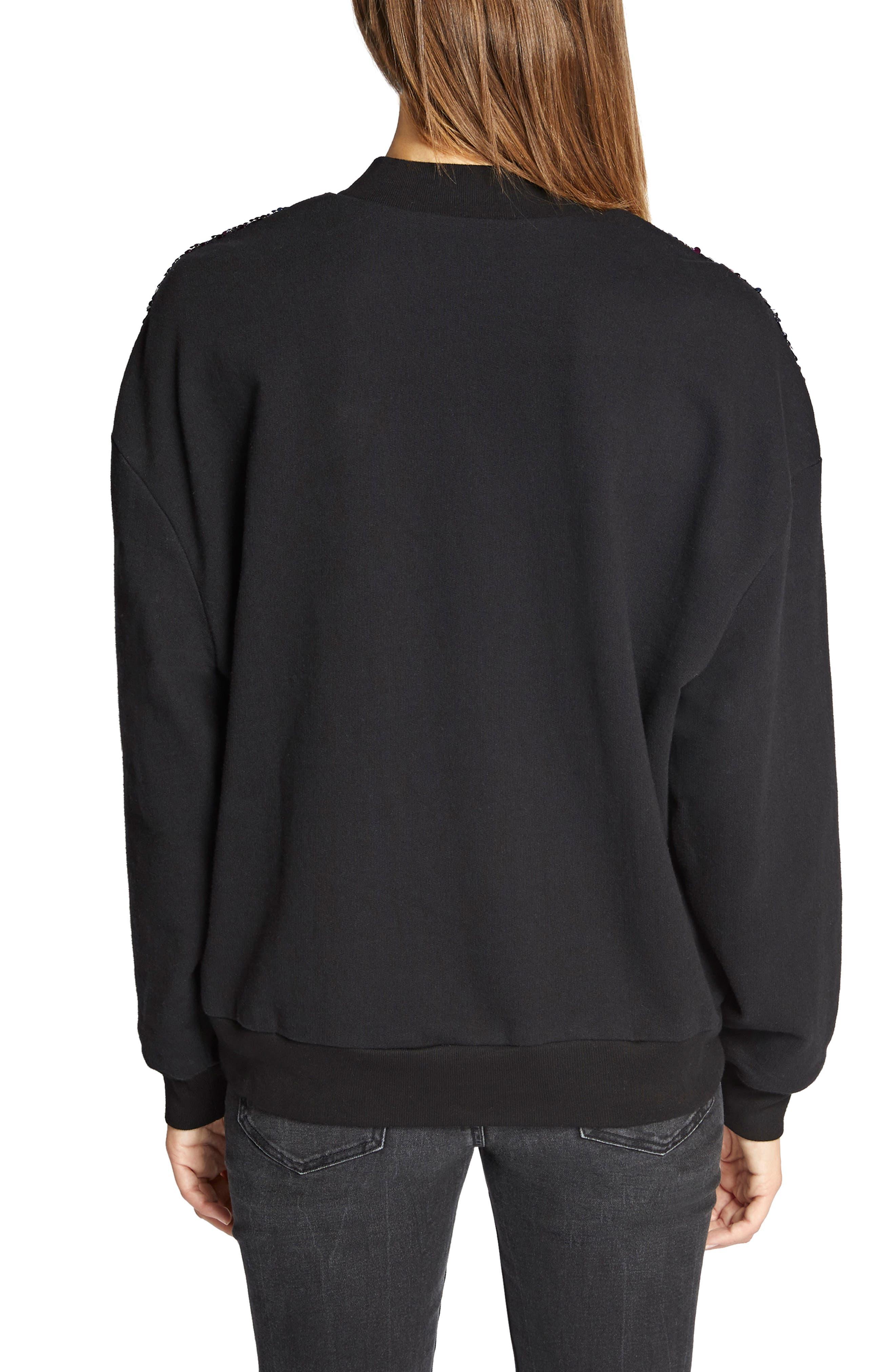 Last Dance Sequin Sweatshirt,                             Alternate thumbnail 2, color,                             BLACK