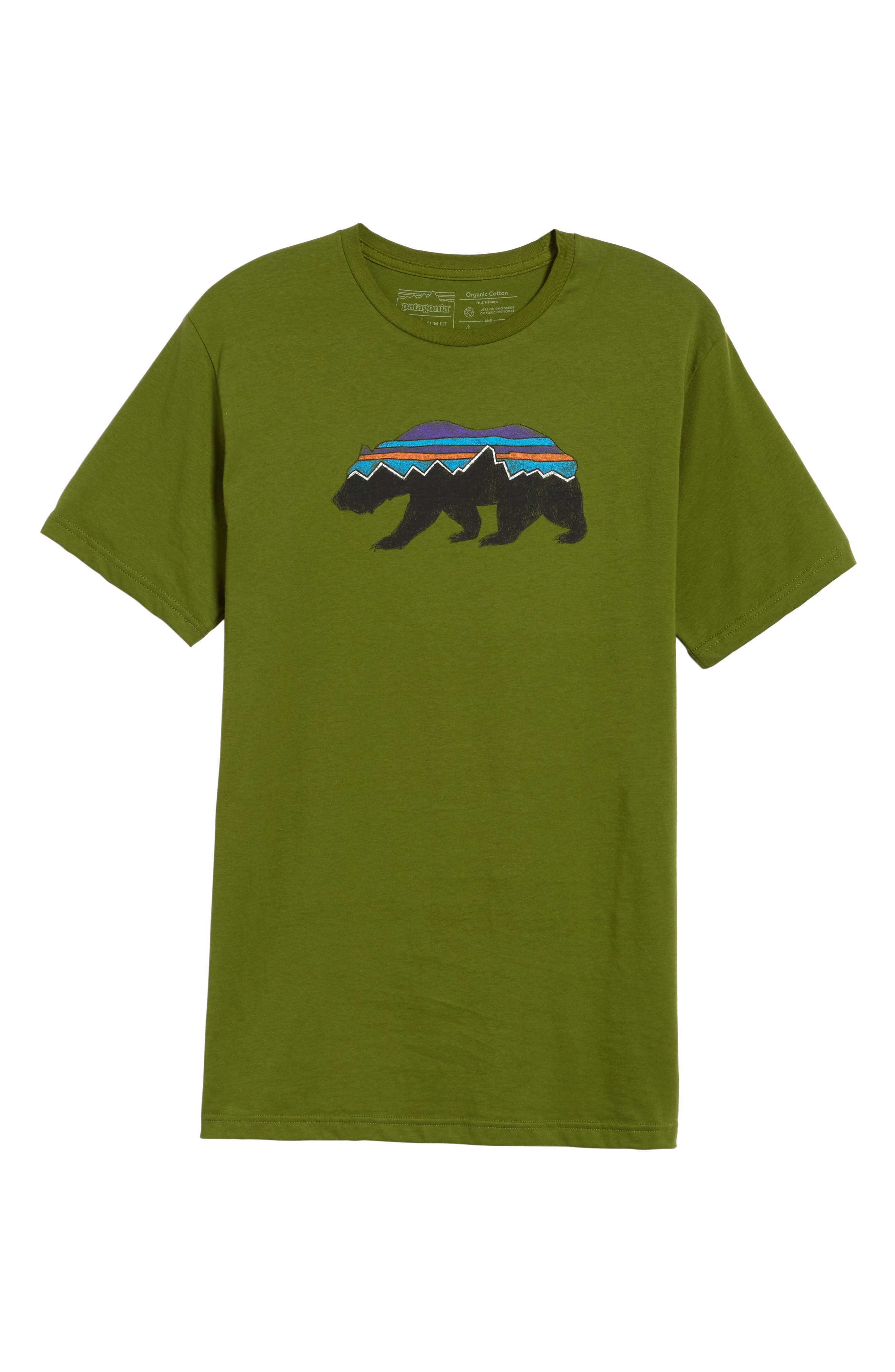 Fitz Roy Bear Crewneck T-Shirt,                             Alternate thumbnail 6, color,                             SPROUTED GREEN