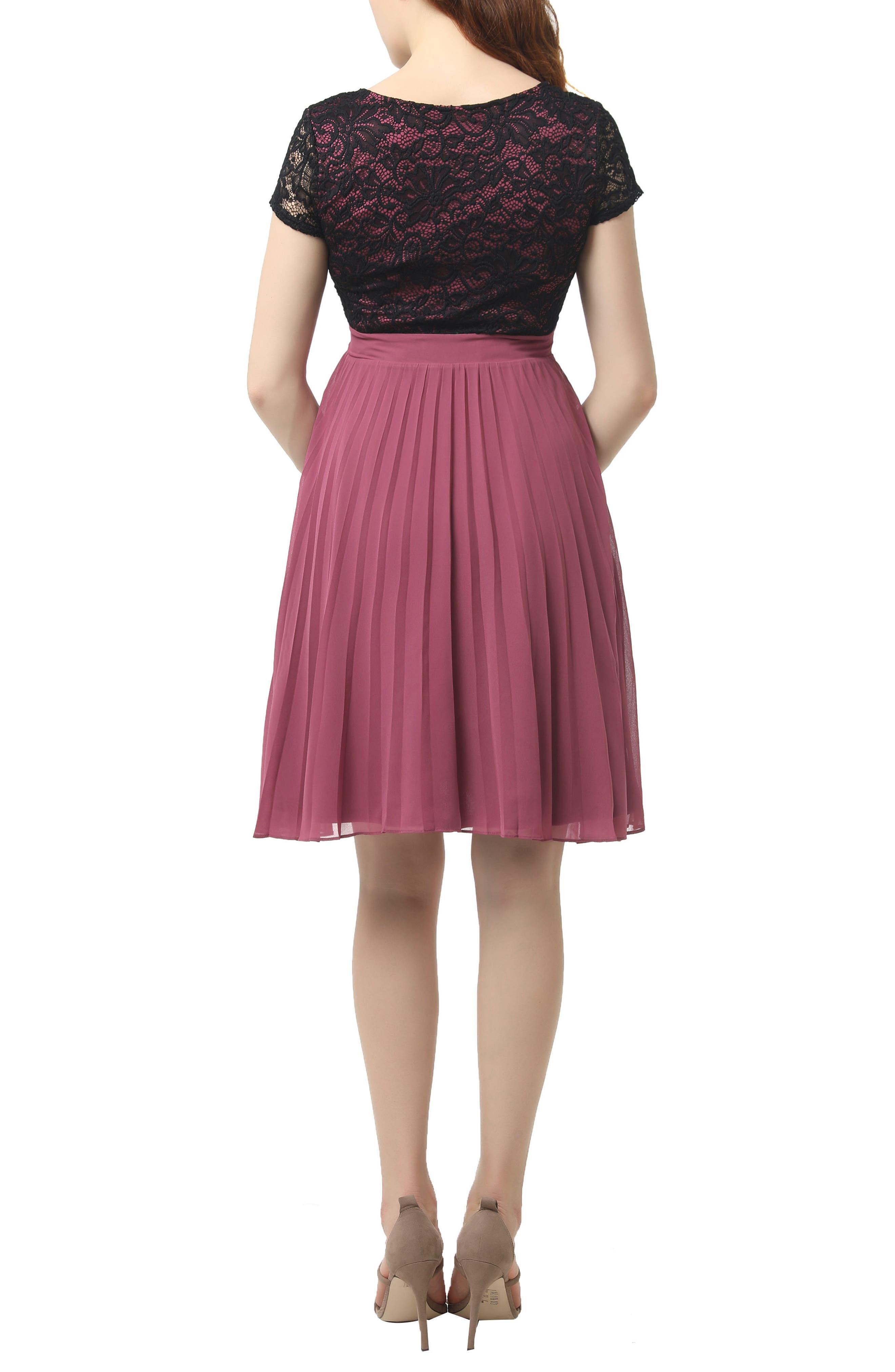 Tanya Maternity Babydoll Dress,                             Alternate thumbnail 2, color,                             ROSE