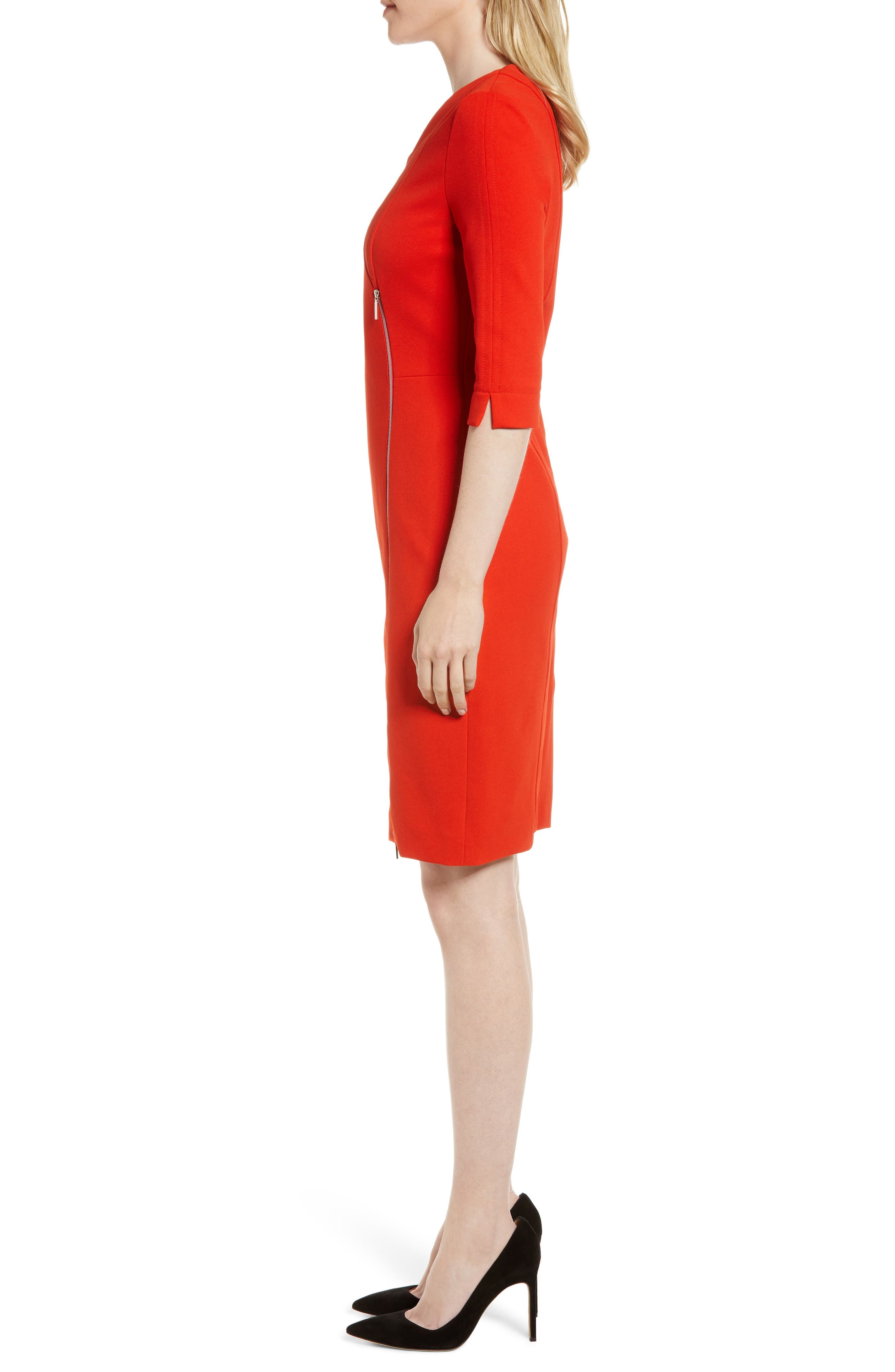 Deazema Twill Jersey Dress,                             Alternate thumbnail 3, color,                             824