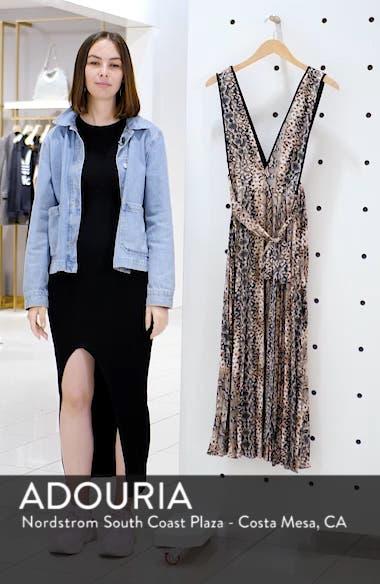 Snake Print Pleated Dress, sales video thumbnail