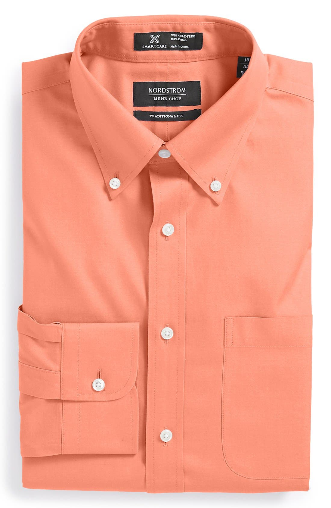 Smartcare<sup>™</sup> Traditional Fit Pinpoint Dress Shirt,                             Main thumbnail 45, color,