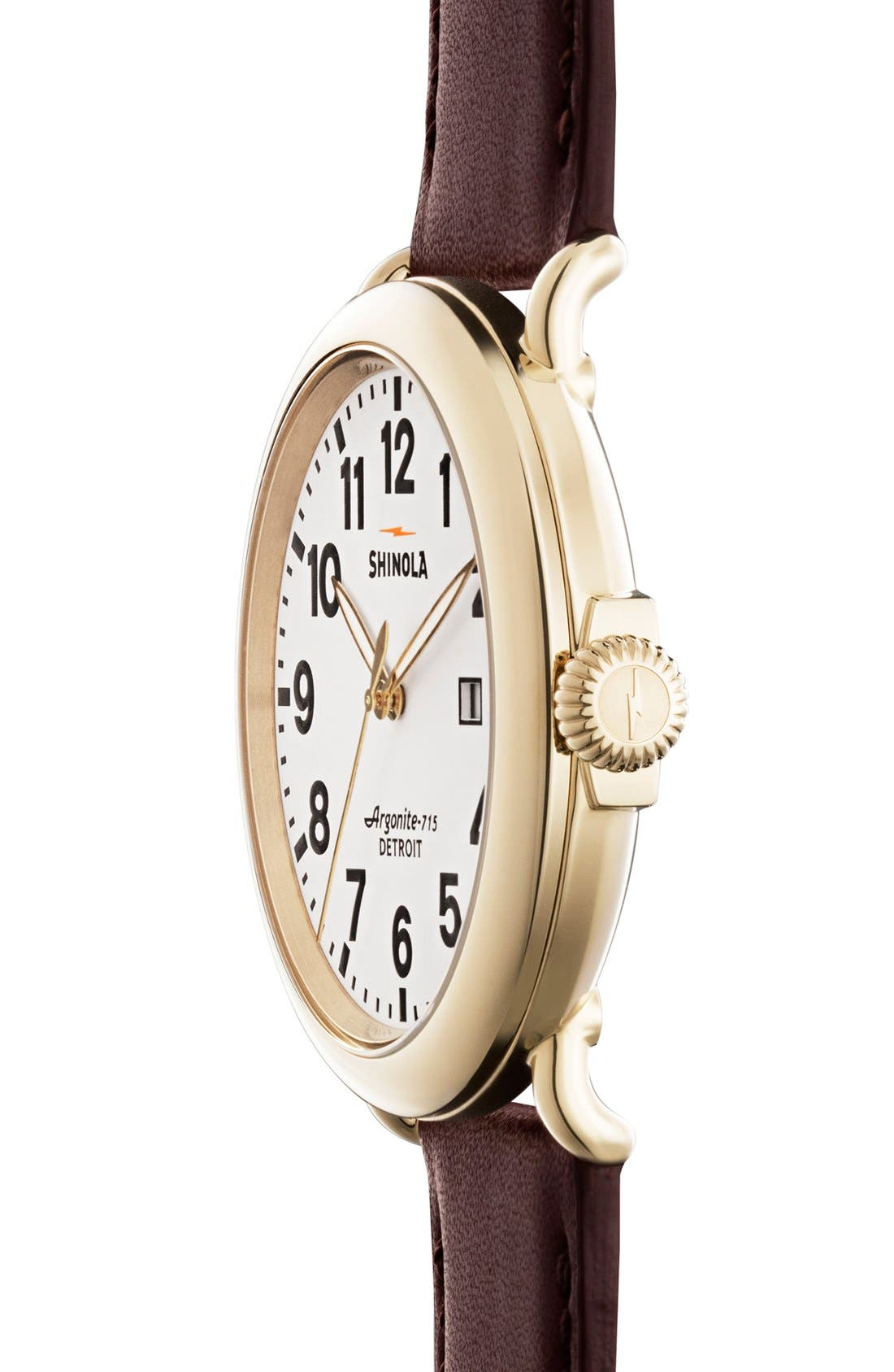 'The Runwell' Leather Strap Watch, 47mm,                             Alternate thumbnail 41, color,