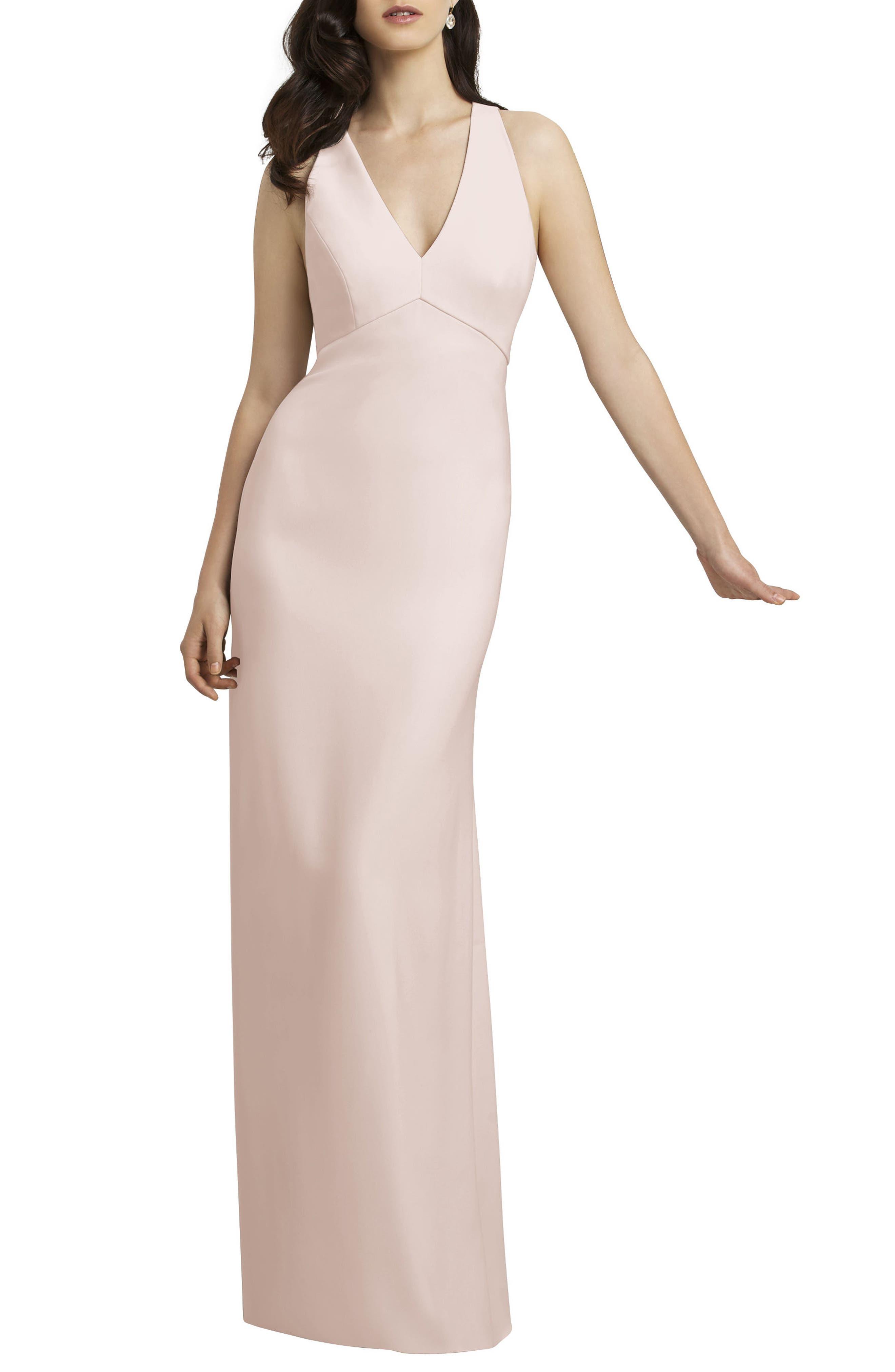 Crepe Gown,                             Alternate thumbnail 5, color,