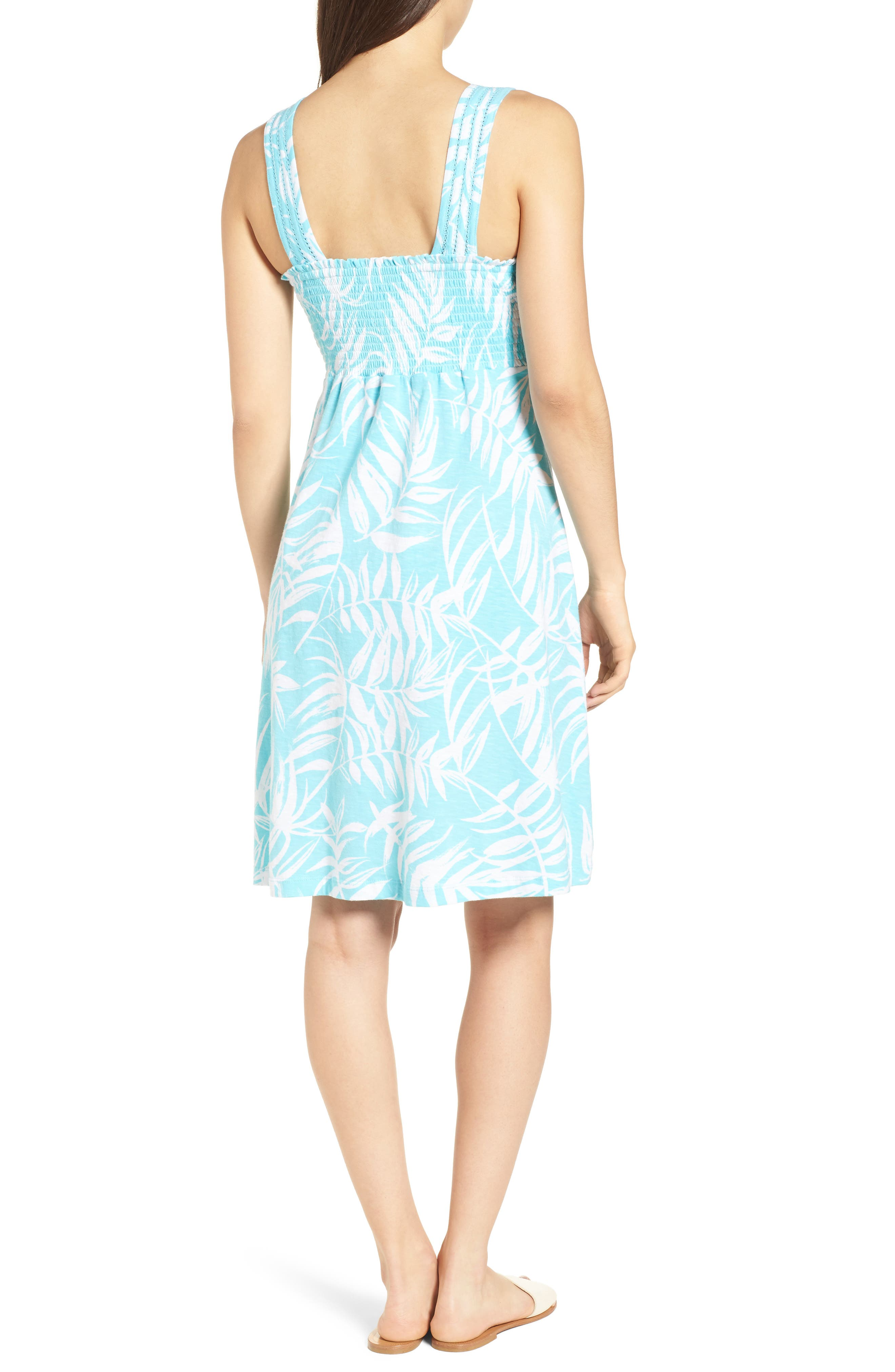 Fronds with Benefits Dress,                             Alternate thumbnail 2, color,                             BLUE RADIANCE
