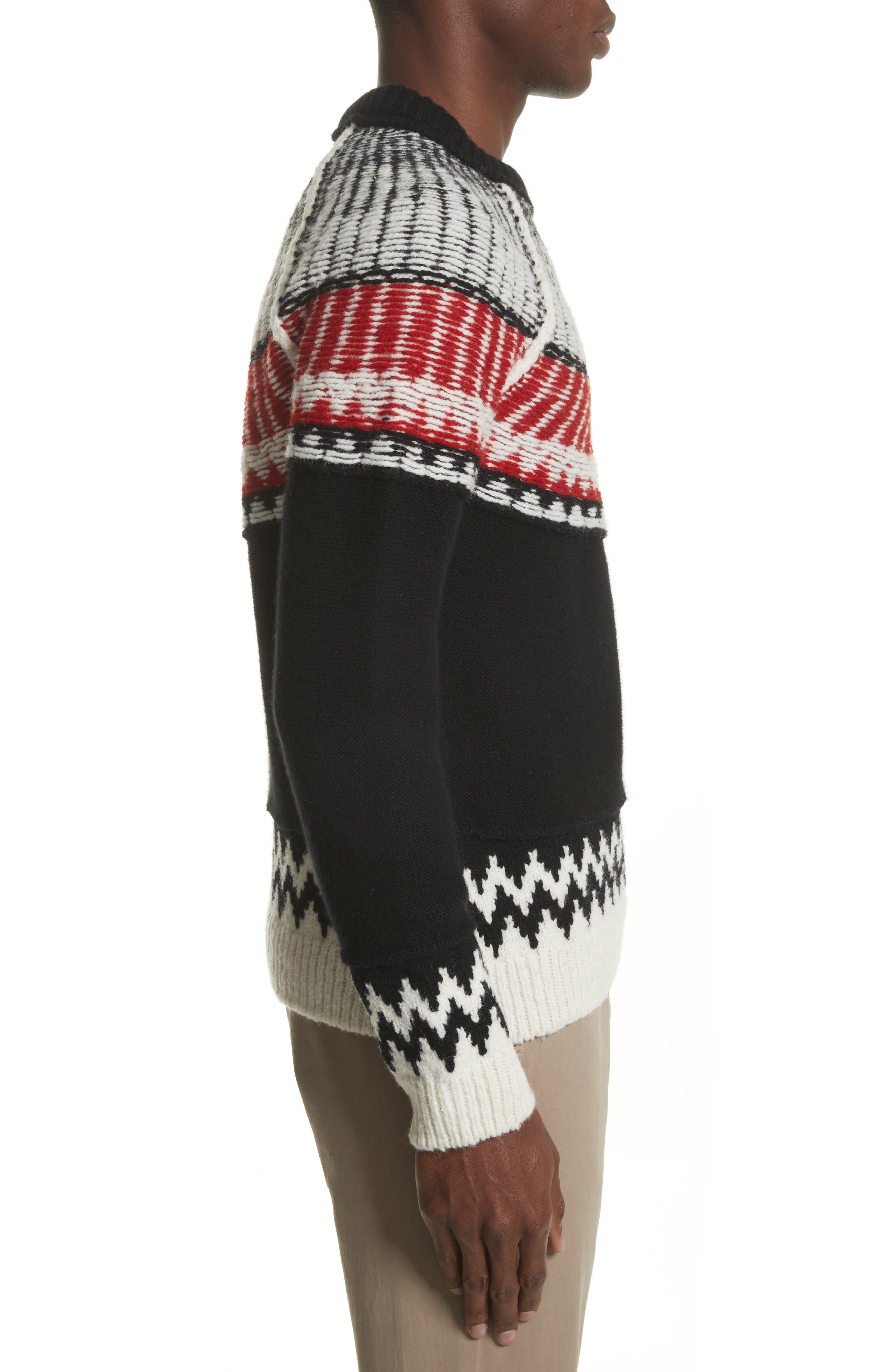 Rycroft Wool & Cashmere Blend Sweater,                             Alternate thumbnail 3, color,                             001