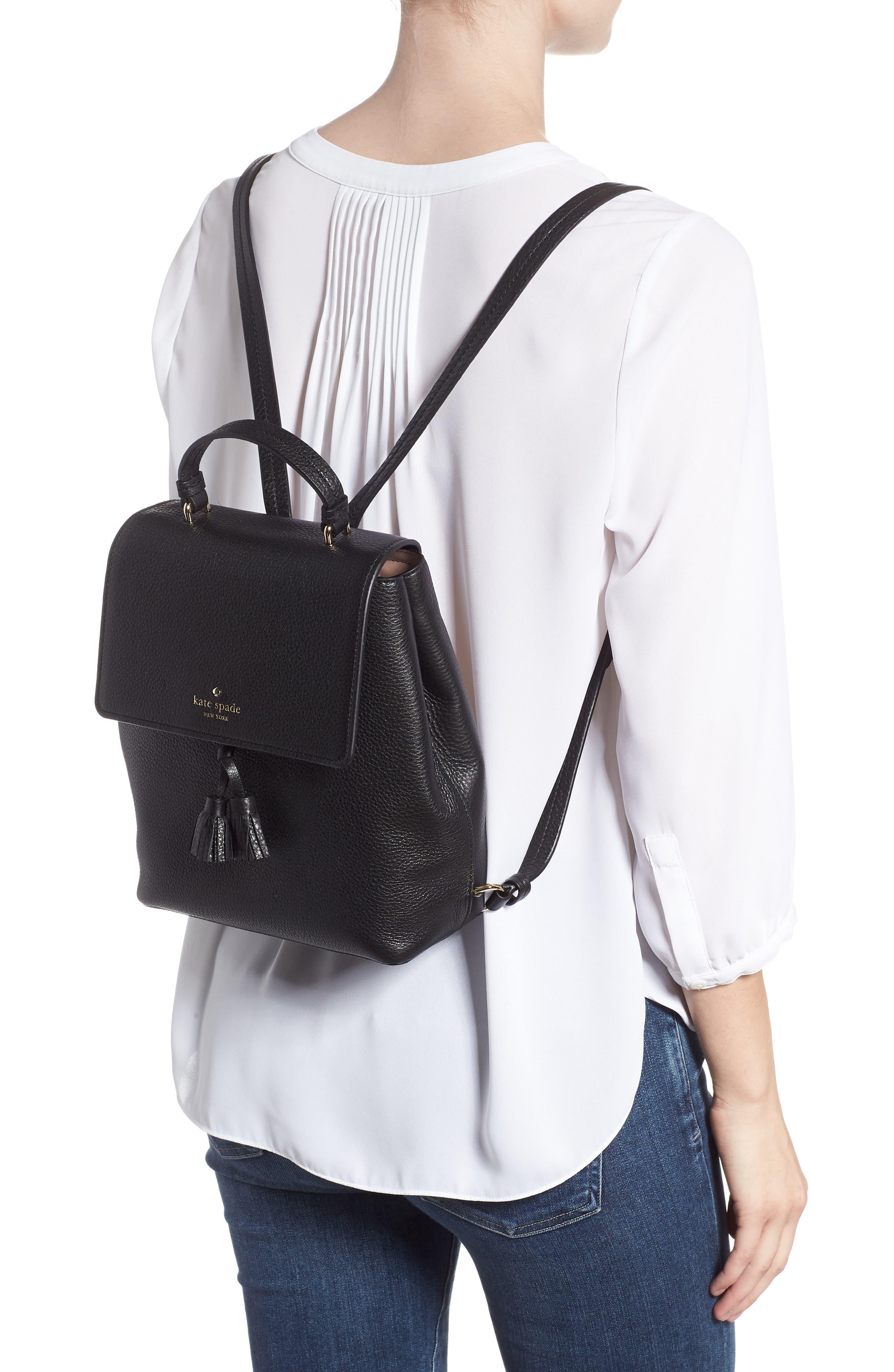 hayes street - teba leather backpack,                             Alternate thumbnail 2, color,                             BLACK