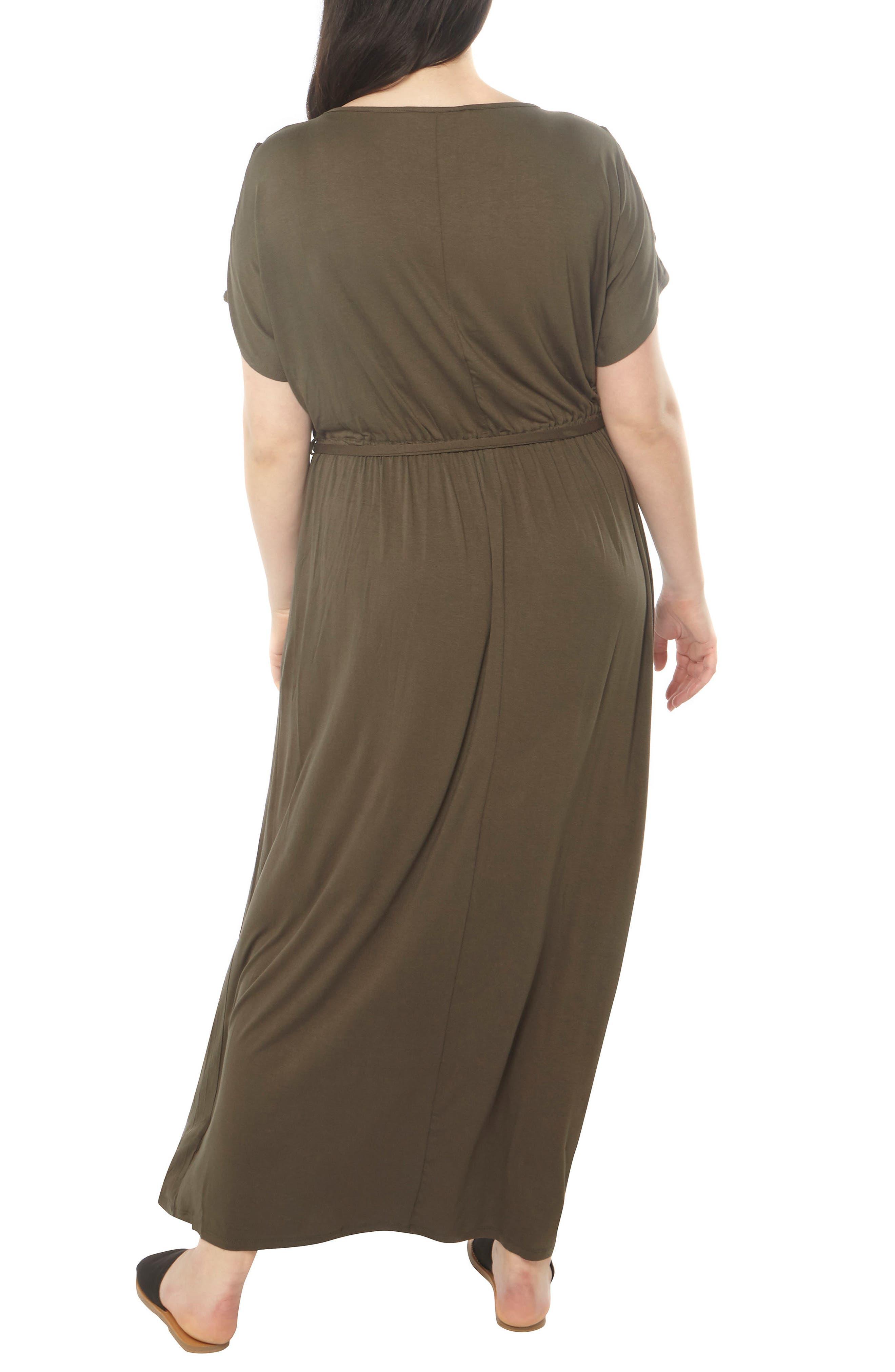 Jersey Cold Shoulder Maxi Dress,                             Alternate thumbnail 2, color,                             200