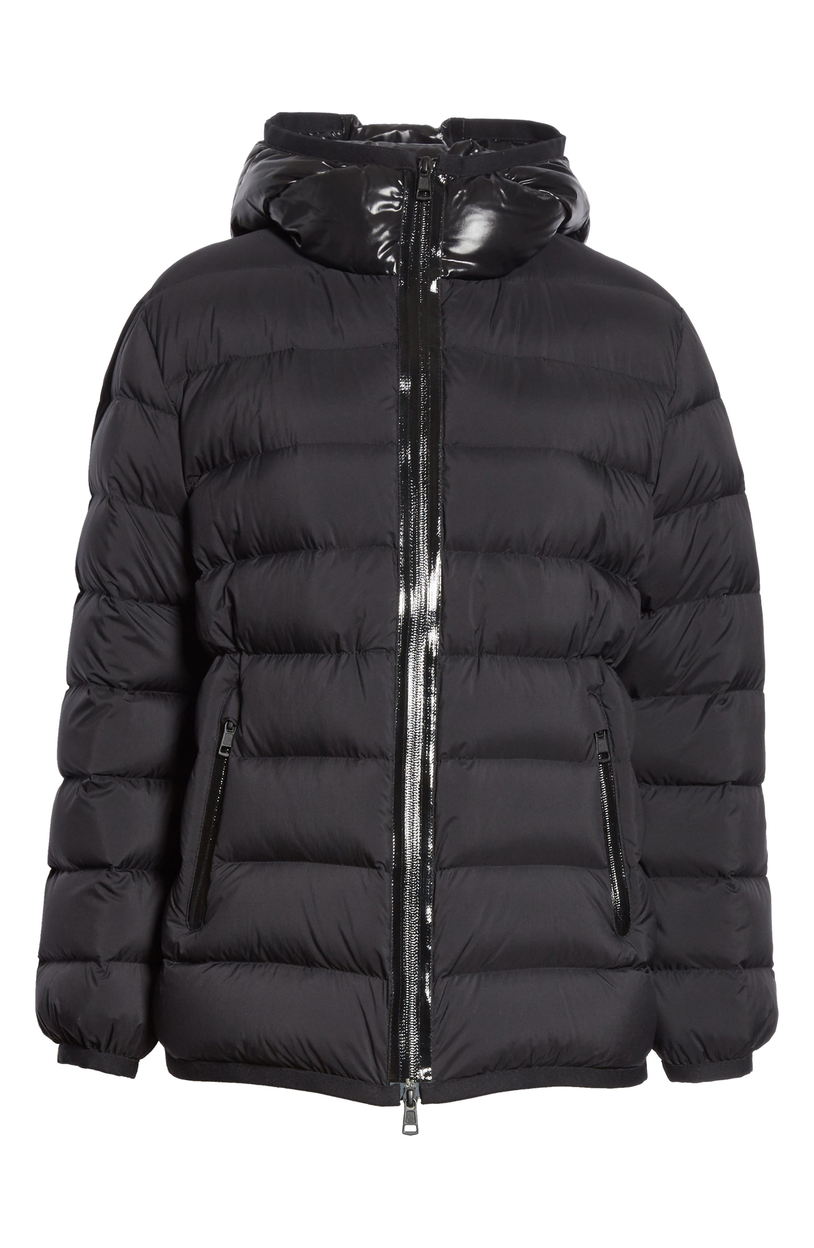 Goeland Quilted Down Jacket,                             Alternate thumbnail 6, color,                             BLACK