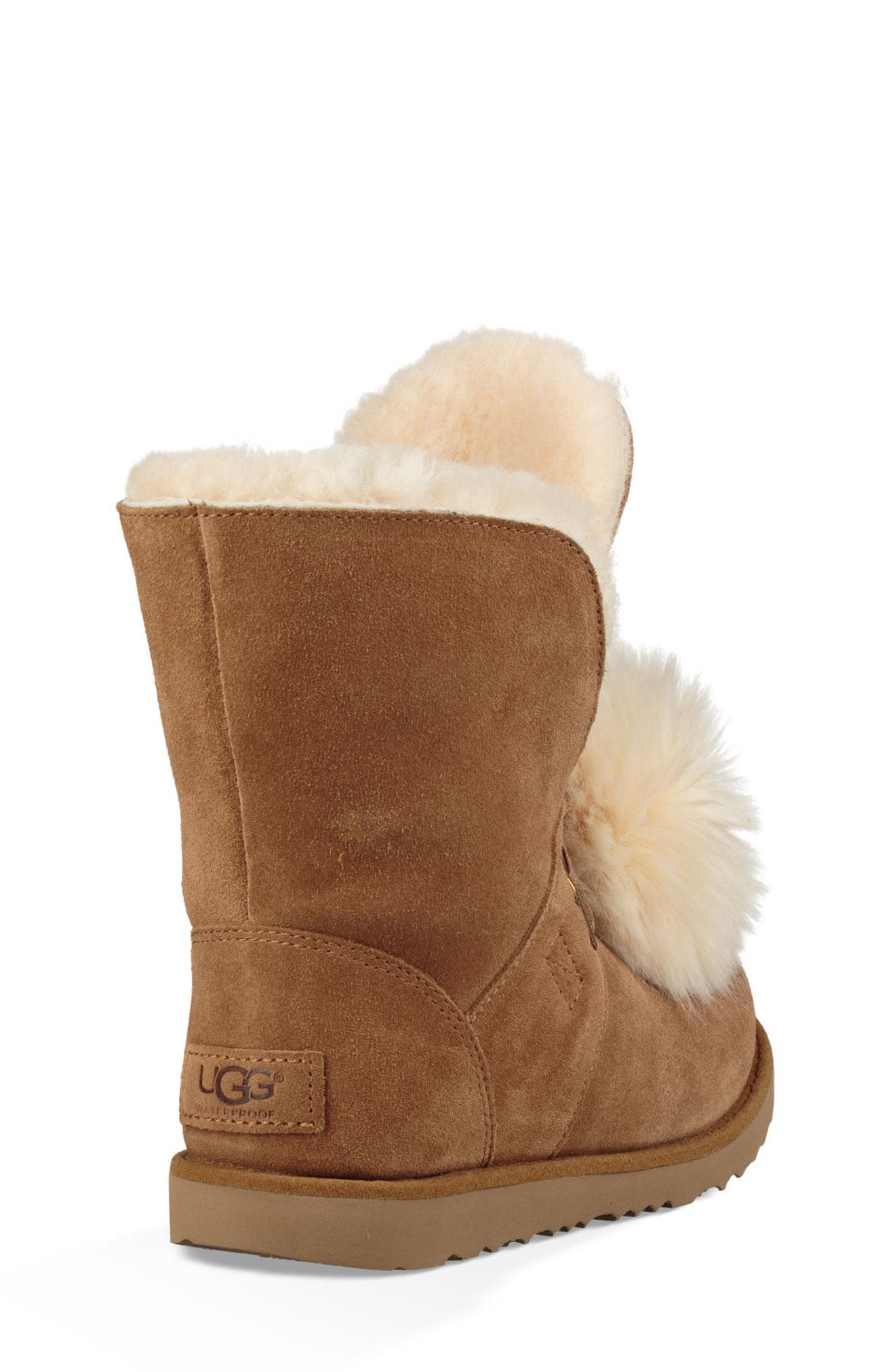 Isley Genuine Shearling Waterproof Pom Boot,                             Alternate thumbnail 2, color,                             219