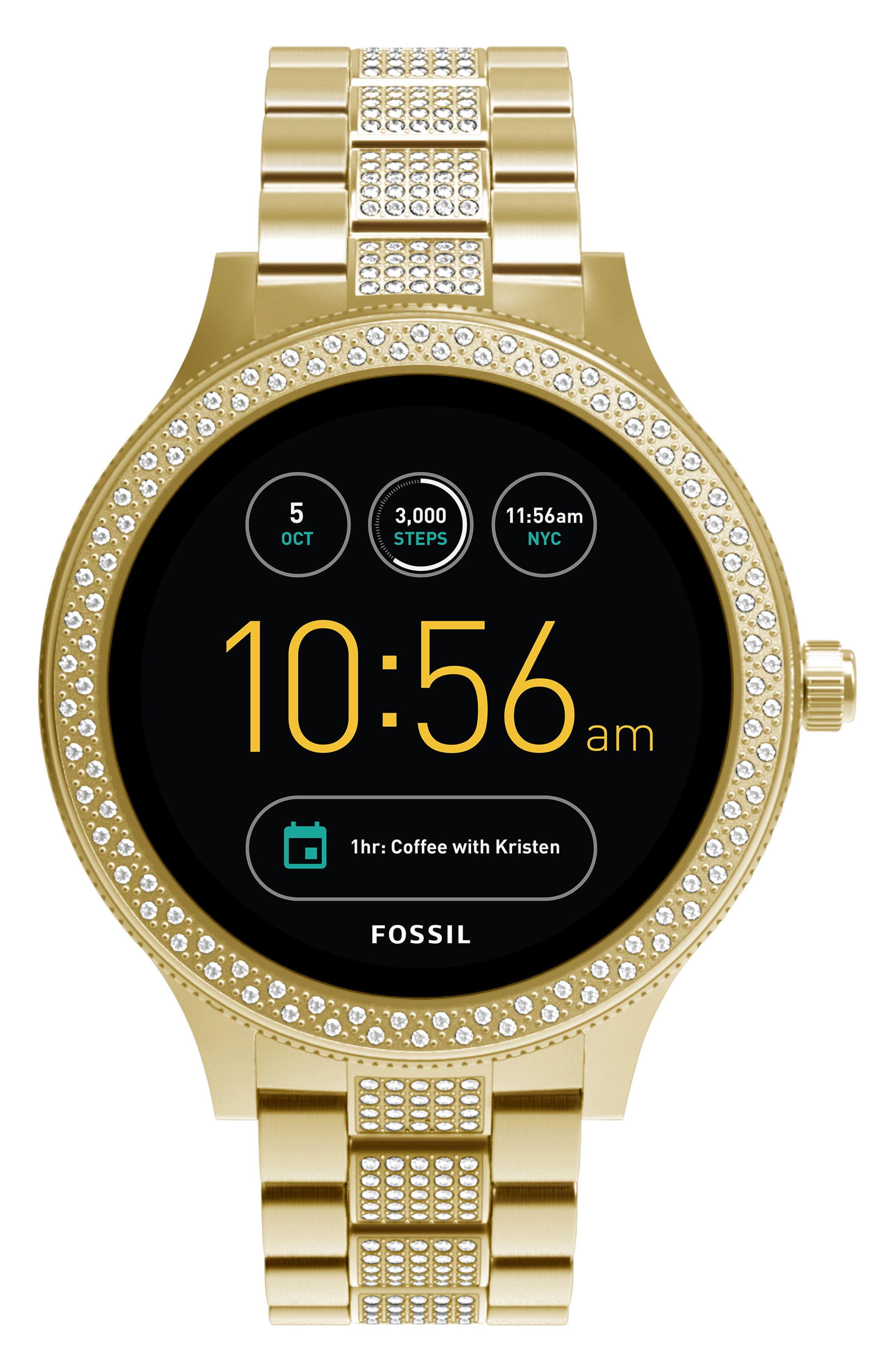 Venture Gen 3 Crystal Accent Bracelet Smartwatch, 42mm,                         Main,                         color,