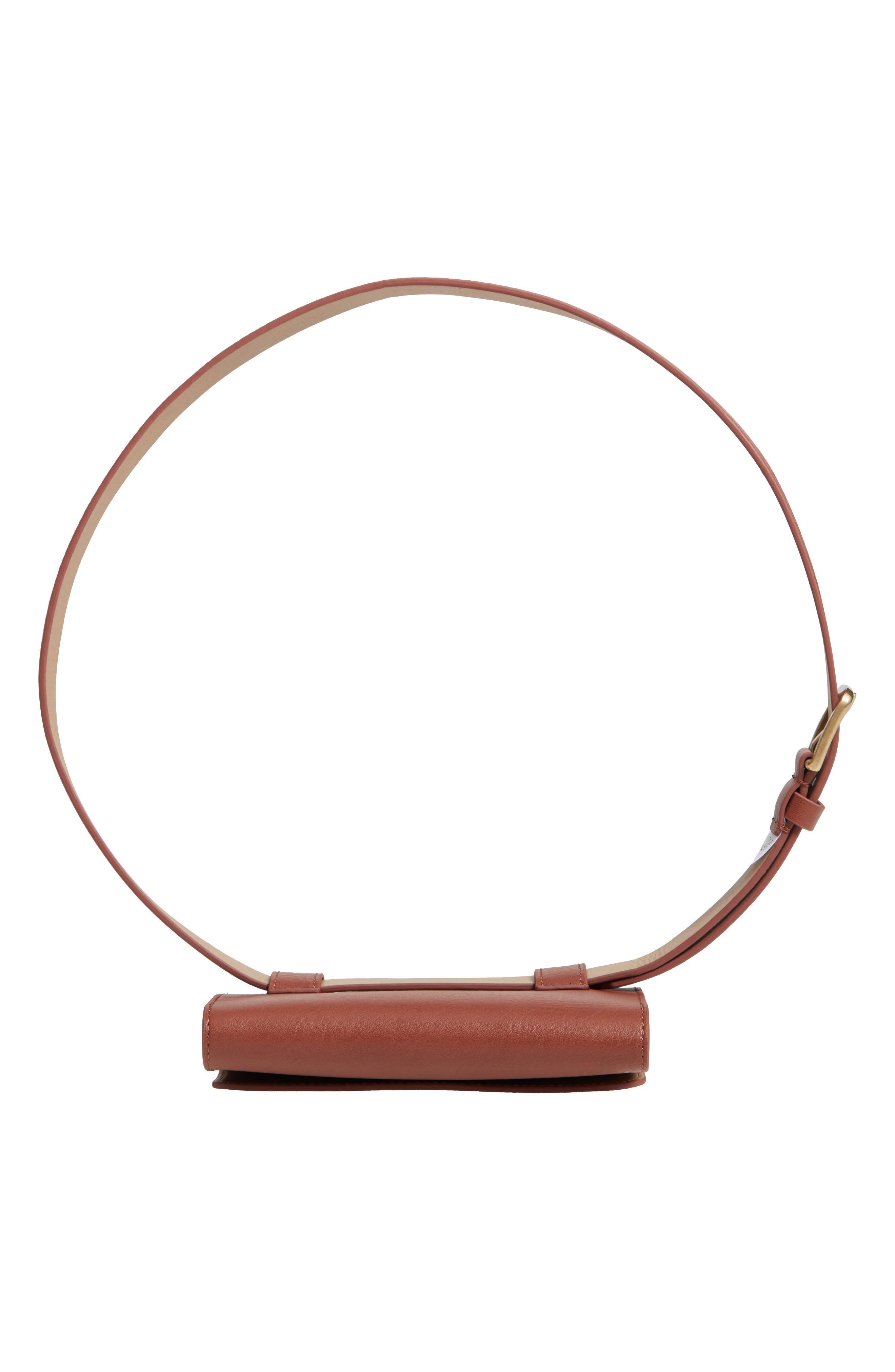 Faux Leather Belt Bag,                             Alternate thumbnail 7, color,                             COGNAC