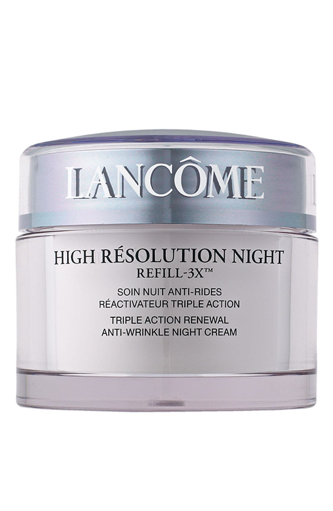 High Résolution Refill-3X Anti-Wrinkle Night Moisturizer Cream,                             Main thumbnail 1, color,                             NO COLOR