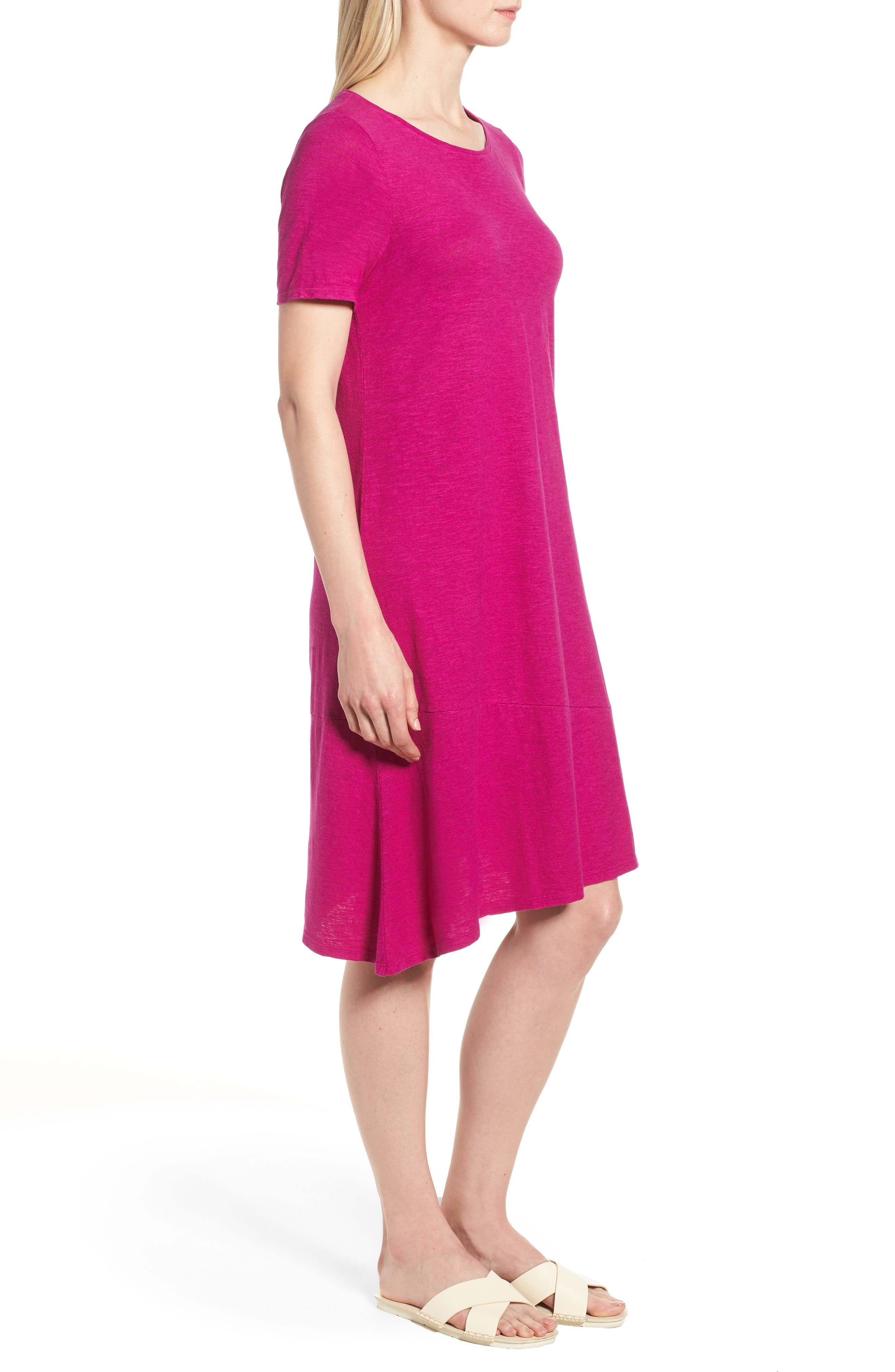 Asymmetrical Hemp Blend Shift Dress,                             Alternate thumbnail 10, color,