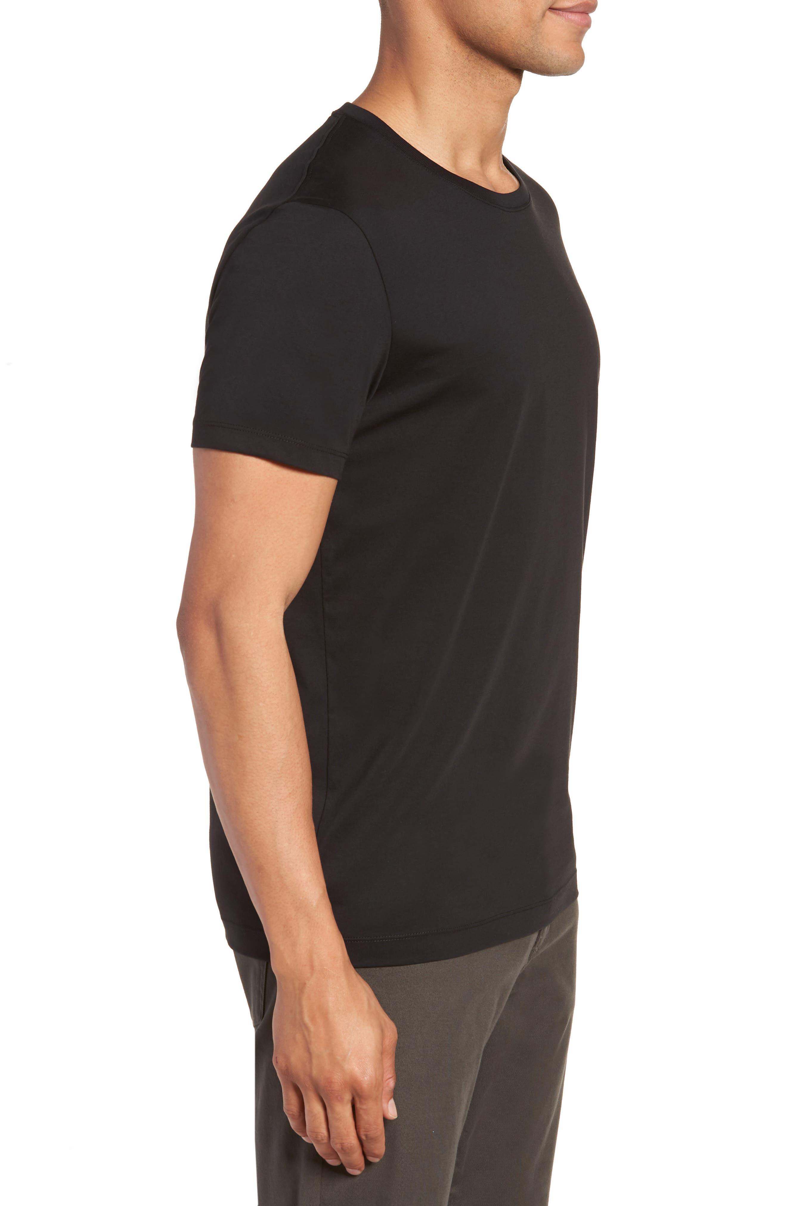 Tiburt Regular Fit Crewneck T-Shirt,                             Alternate thumbnail 3, color,                             001