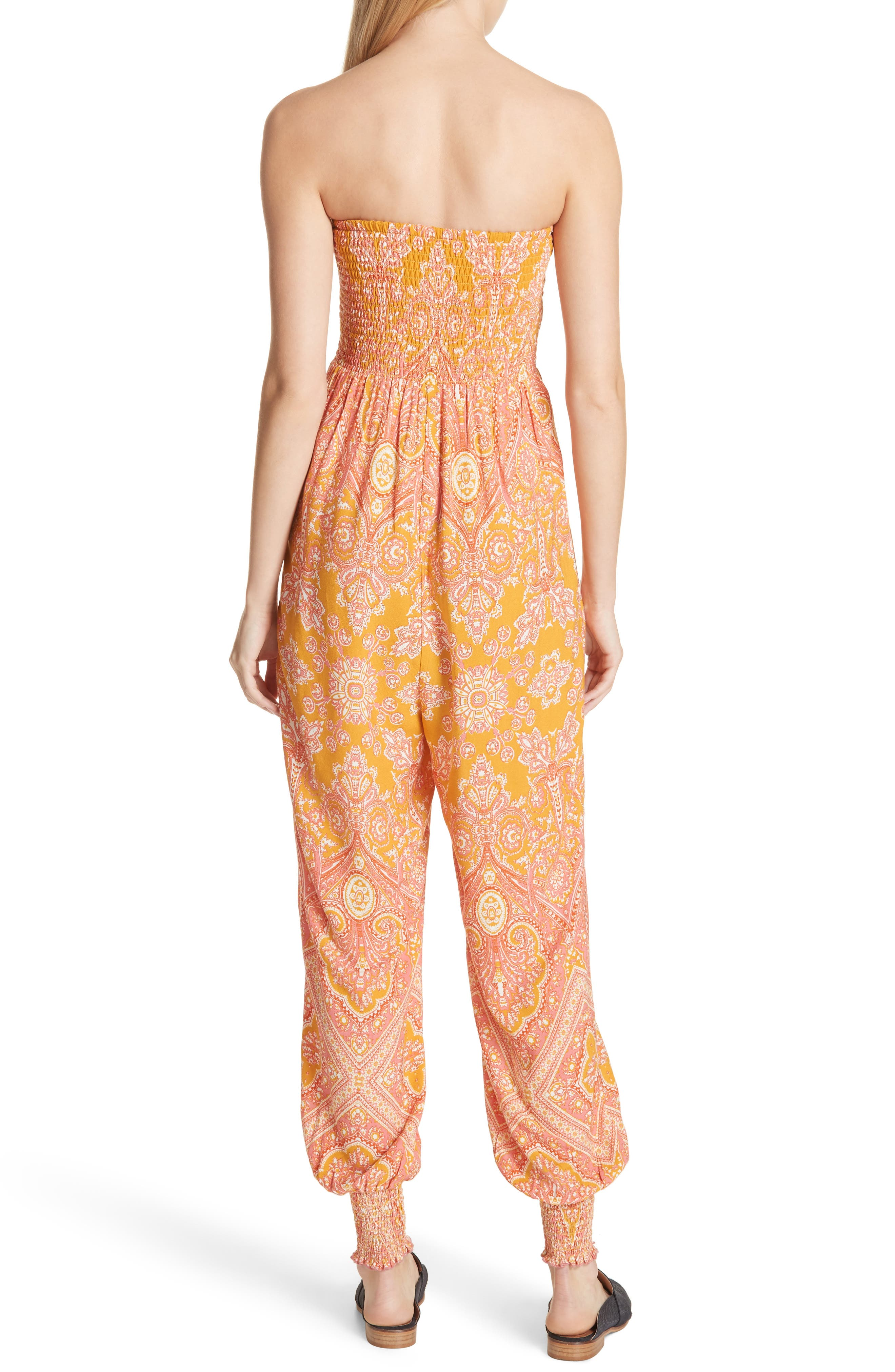 Thinking of You Smocked Jumpsuit,                             Alternate thumbnail 6, color,