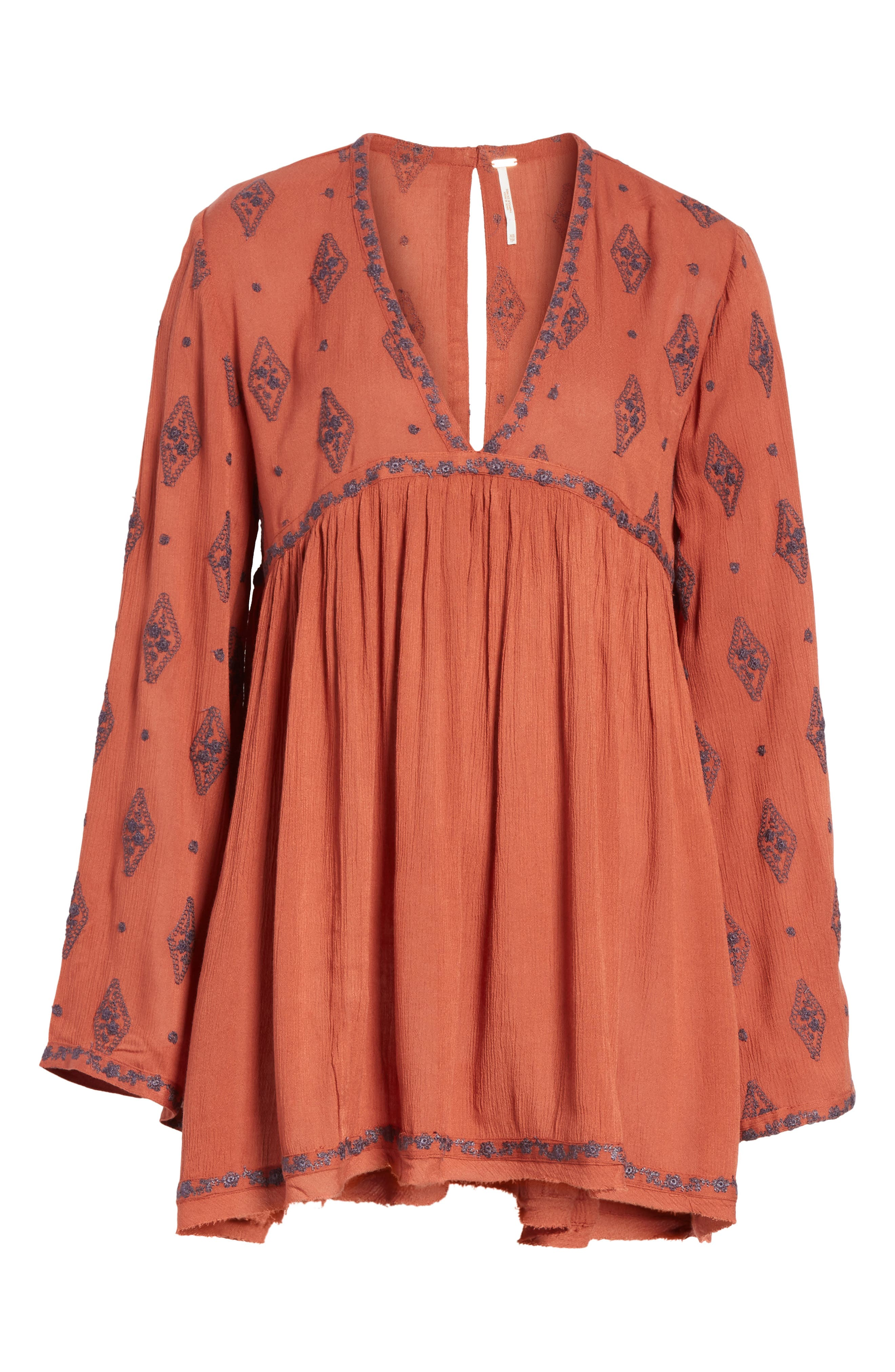 Embroidered Bell Sleeve Top,                             Alternate thumbnail 27, color,