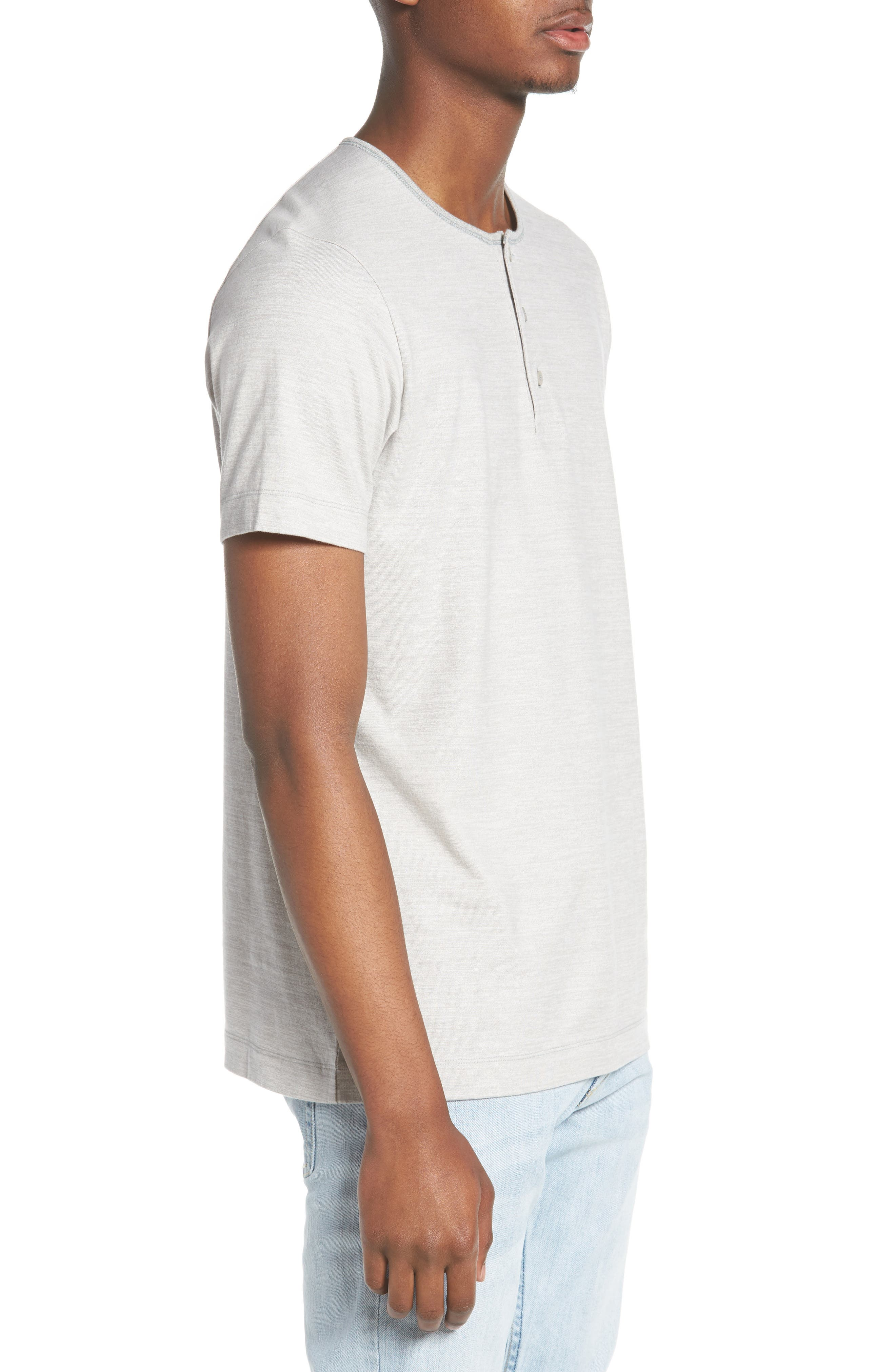 Marled Jersey Henley,                             Alternate thumbnail 3, color,                             072