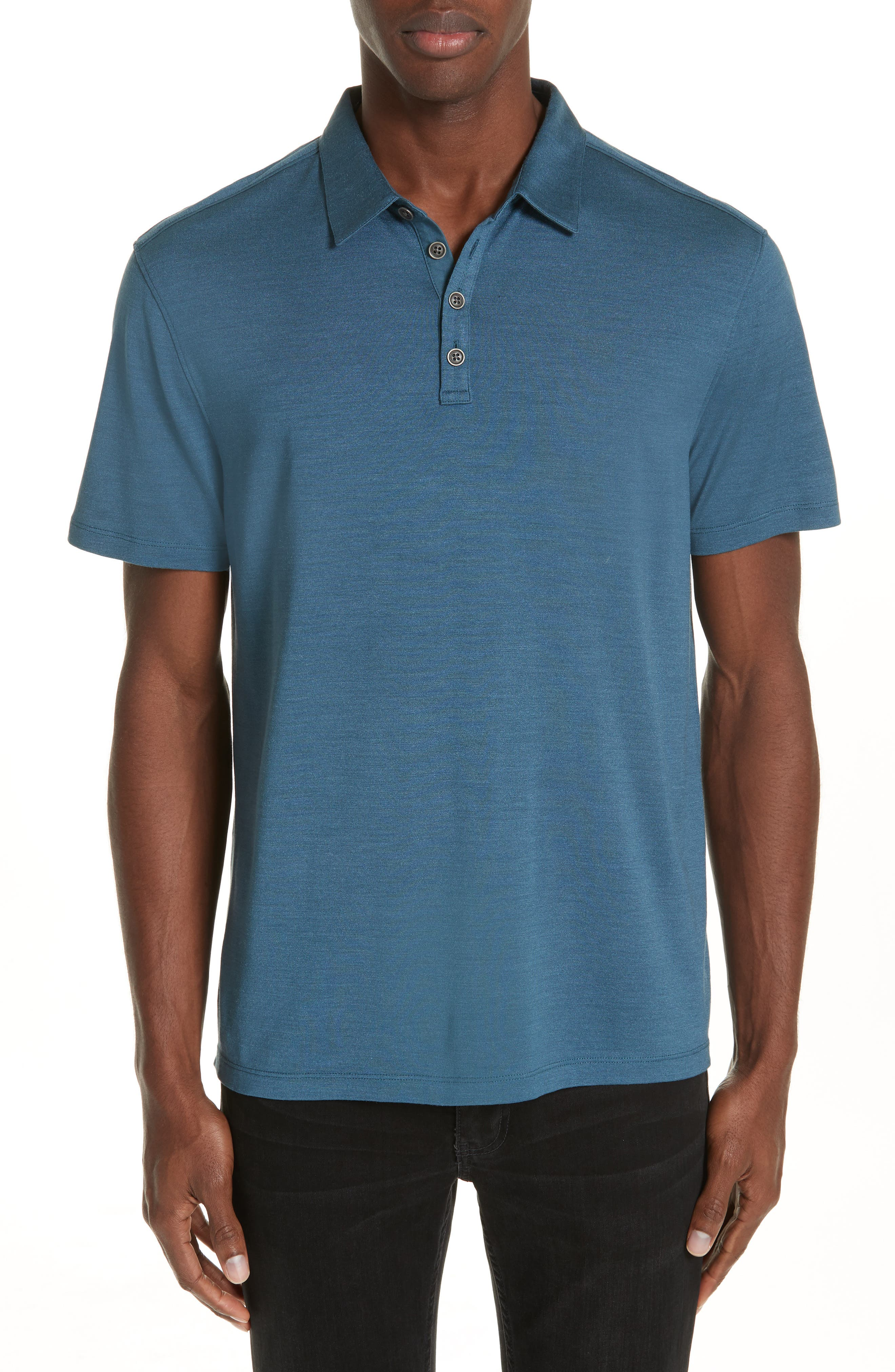 Hampton Jersey Polo,                             Main thumbnail 1, color,                             OCEAN BLUE