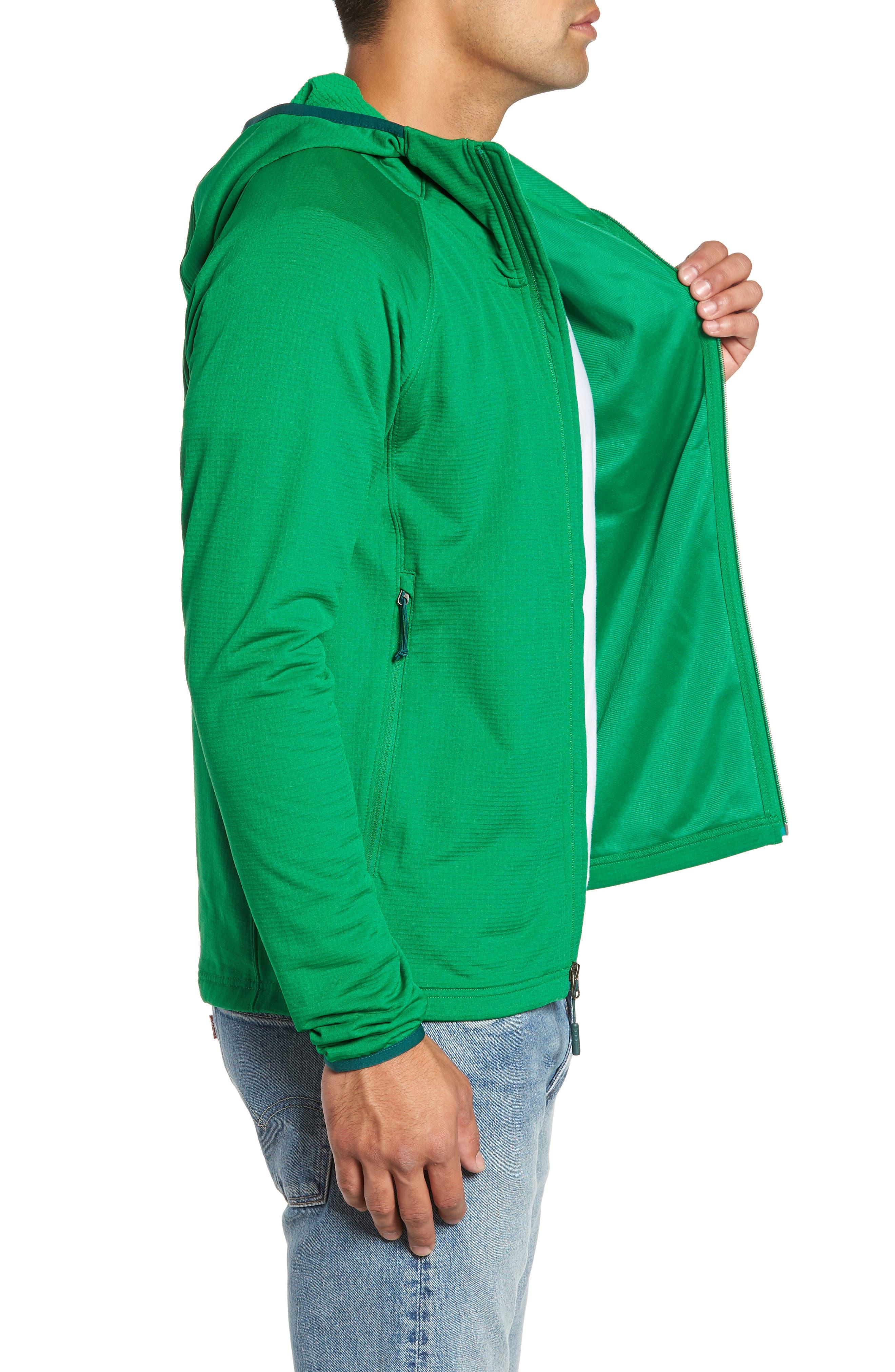 Borod Zip Fleece Jacket,                             Alternate thumbnail 3, color,                             PRIMARY GREEN/GARDEN GREEN