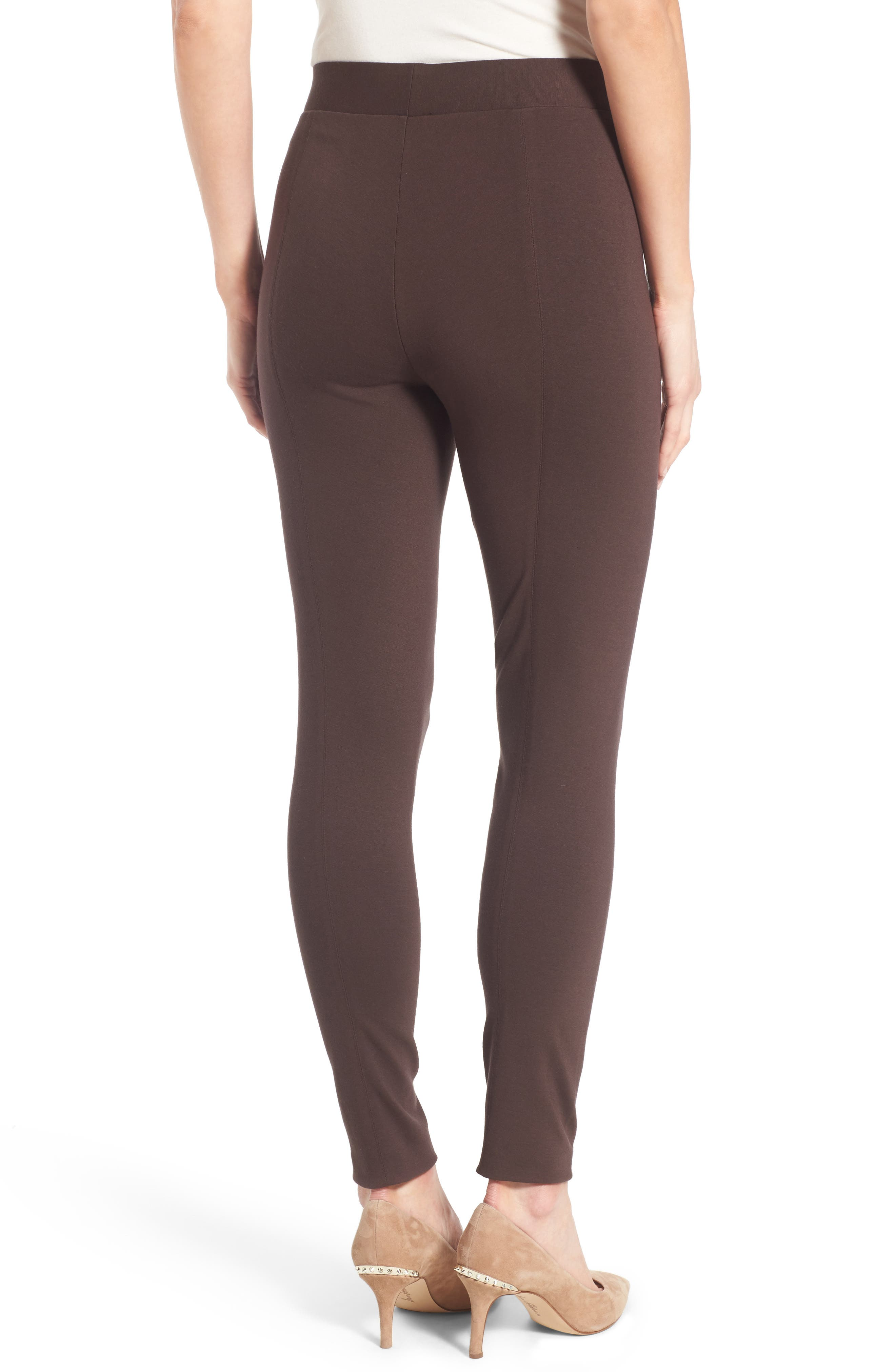 Two by Vince Camuto Seamed Back Leggings,                             Alternate thumbnail 2, color,                             ESPRESSO