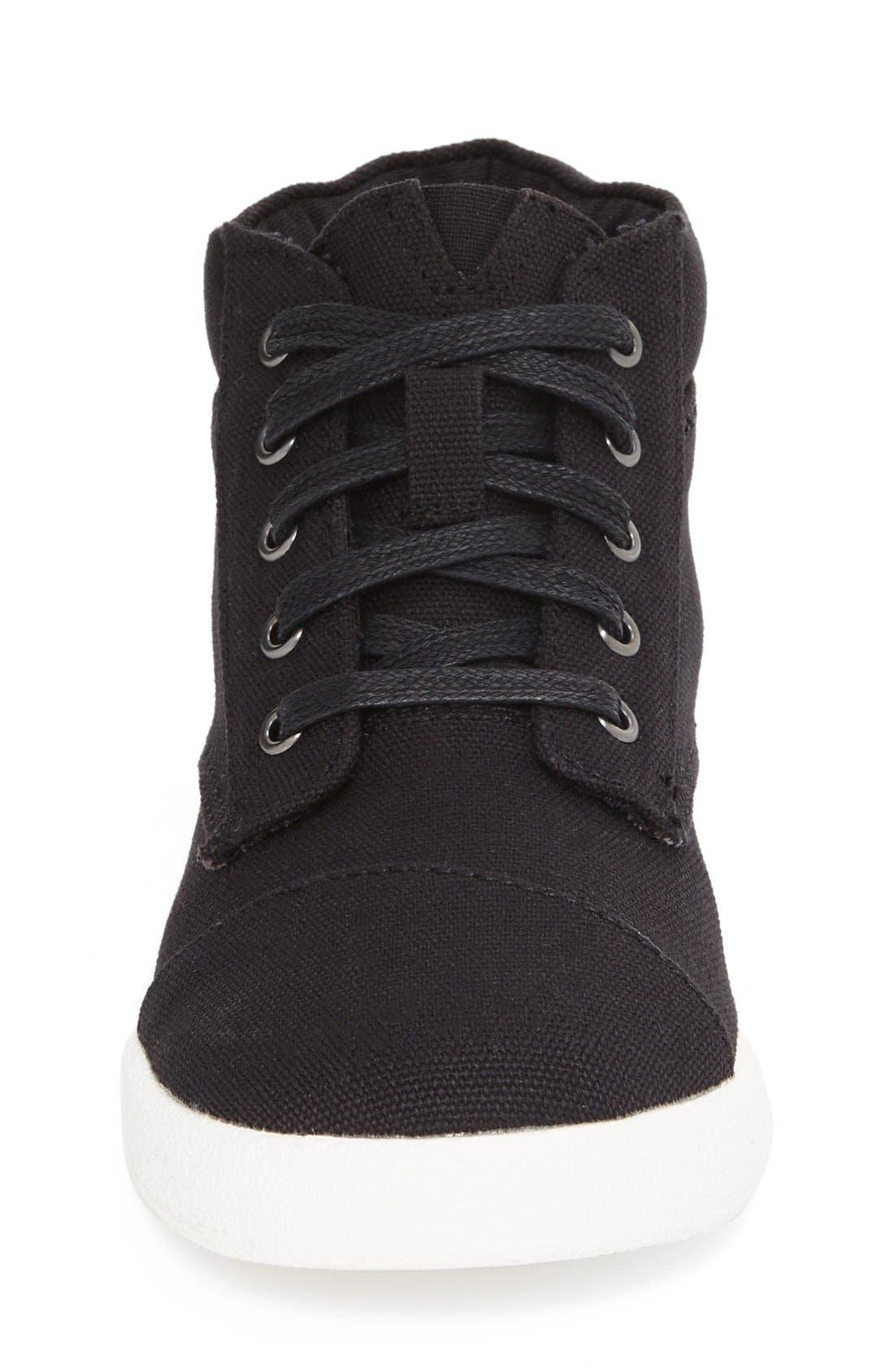 'Paseo' High Top Sneaker,                             Alternate thumbnail 3, color,                             BLACK