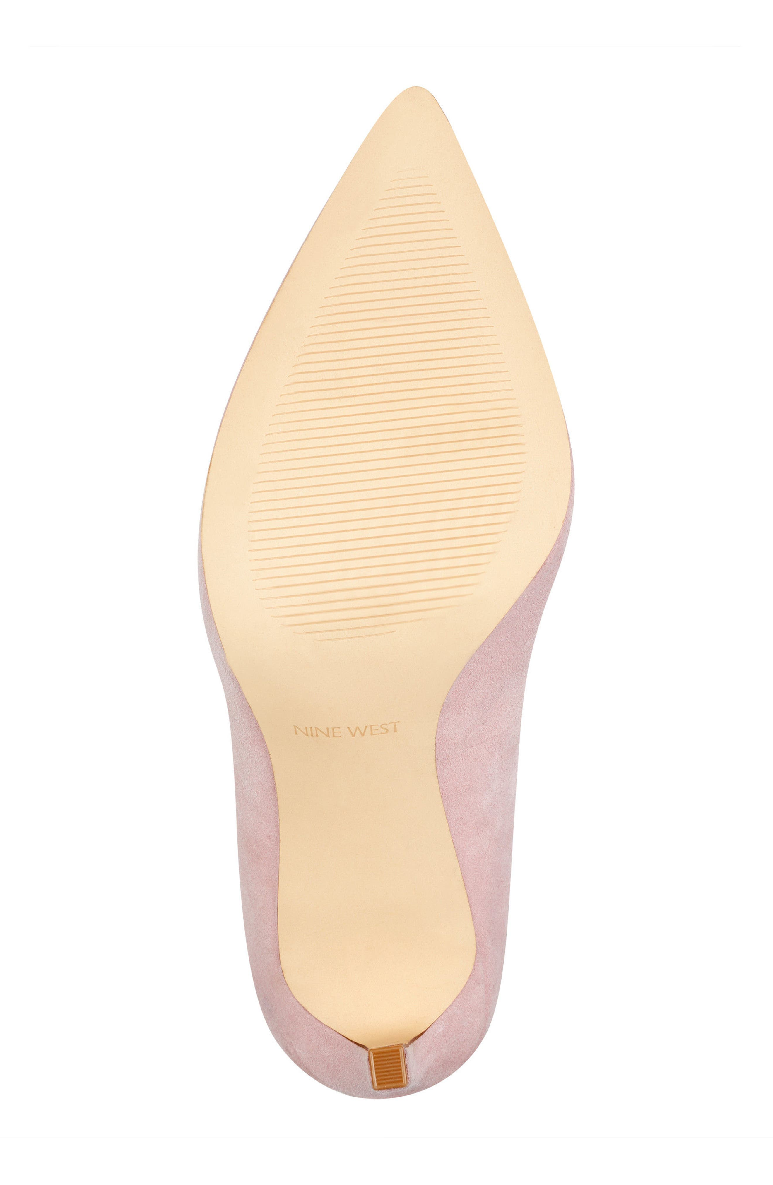'Tatiana' Pointy Toe Pump,                             Alternate thumbnail 6, color,                             LIGHT PINK SUEDE