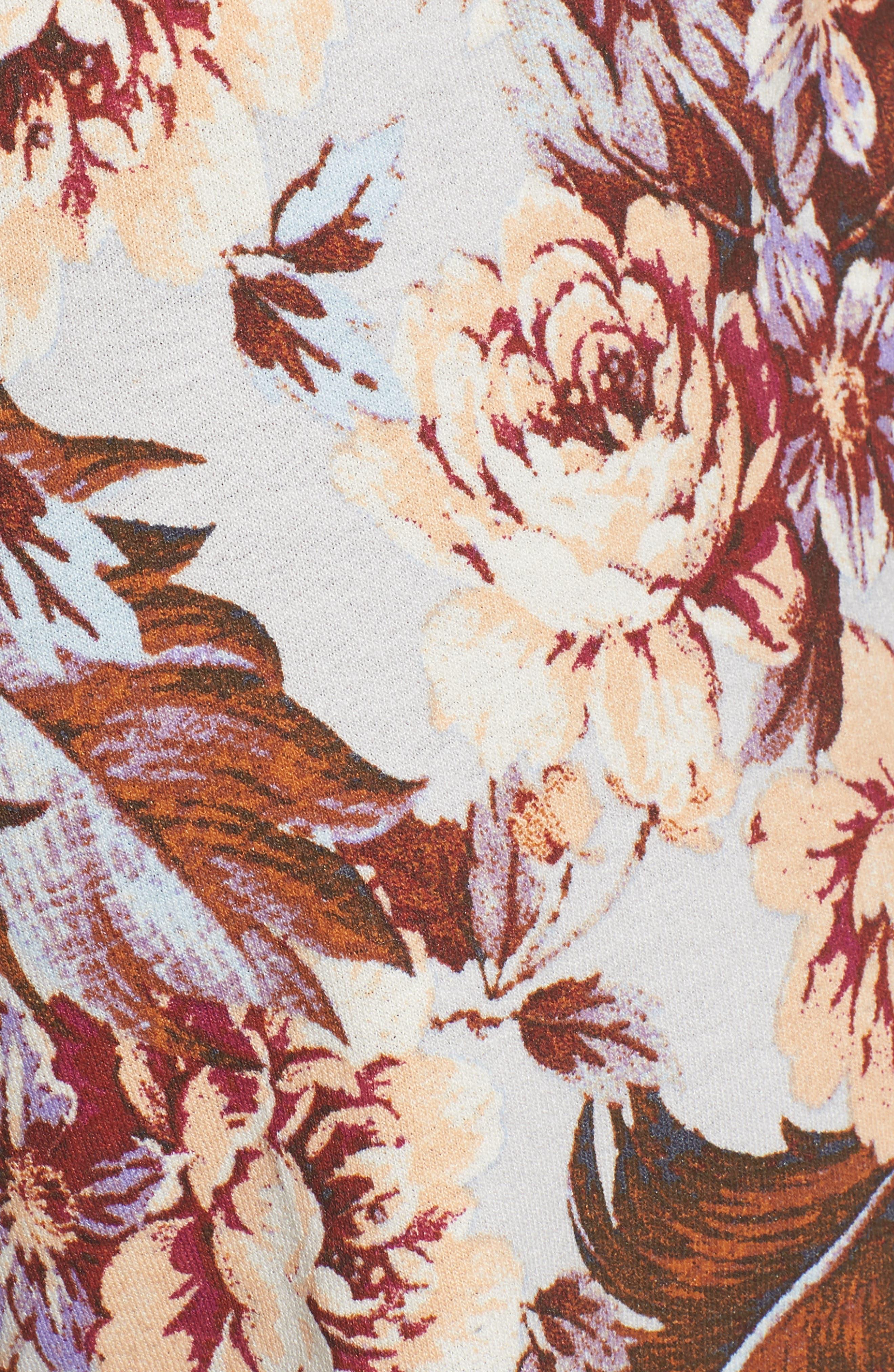 Print Tulip Hem Shorts,                             Alternate thumbnail 5, color,