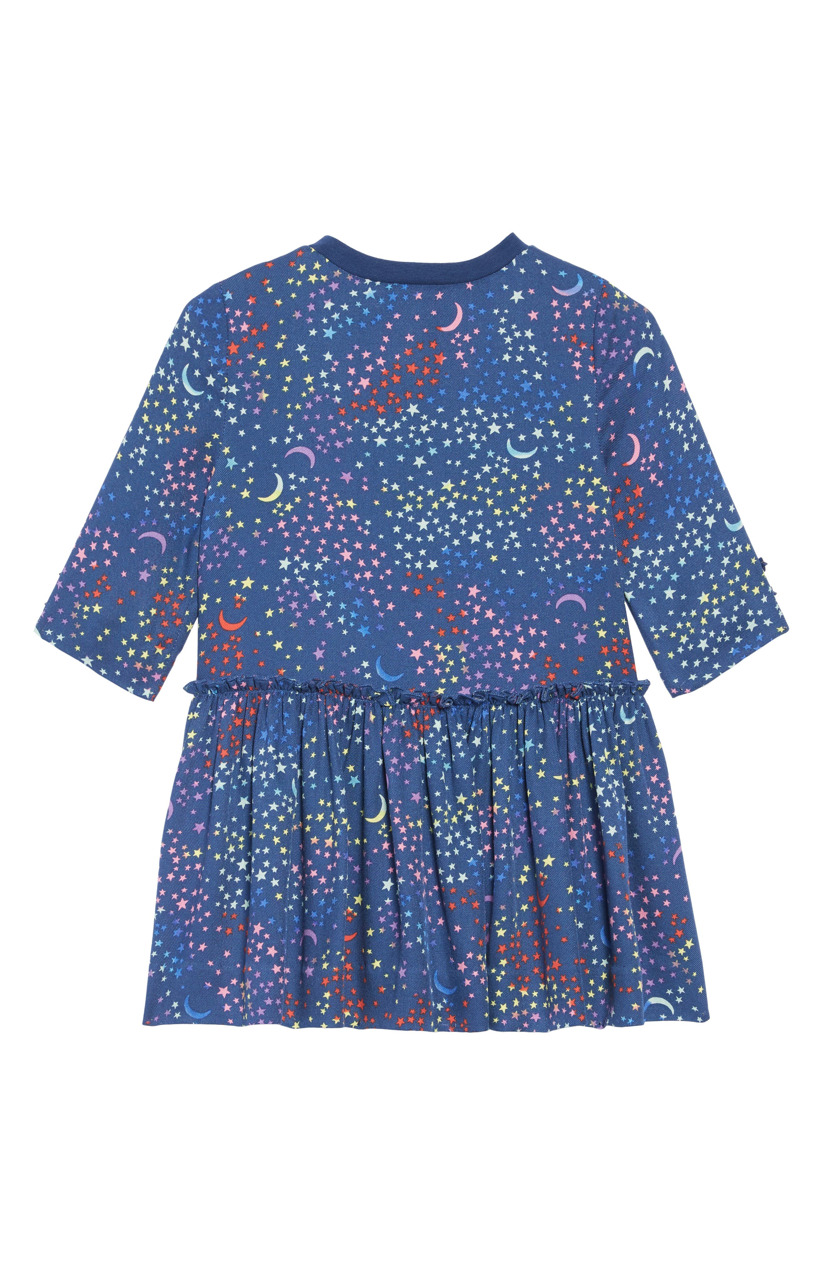 Stella McCartney Kiwi Star Print Dress,                             Alternate thumbnail 2, color,                             BLUE