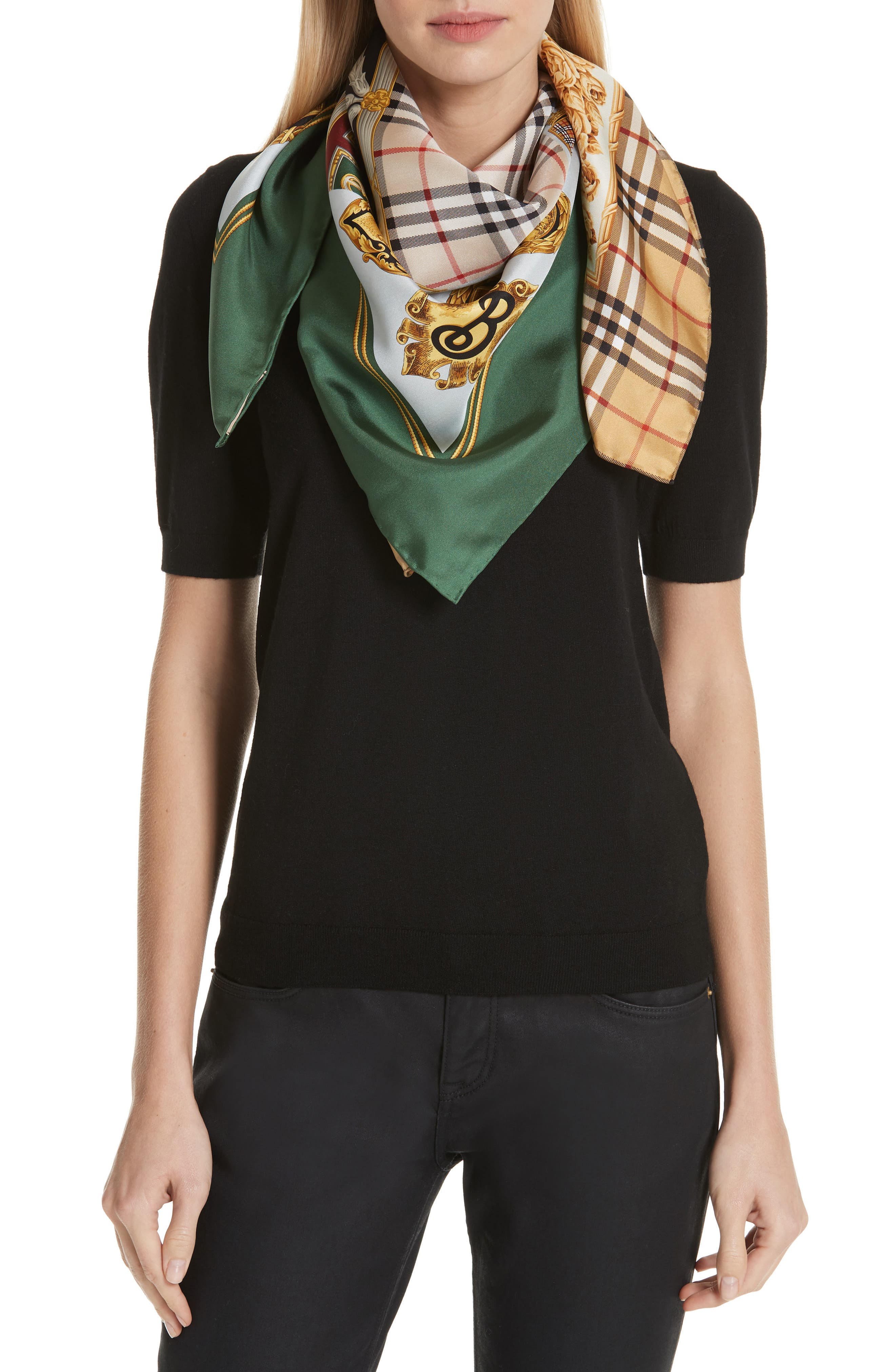 Archive Prints Silk Scarf,                             Alternate thumbnail 2, color,                             710