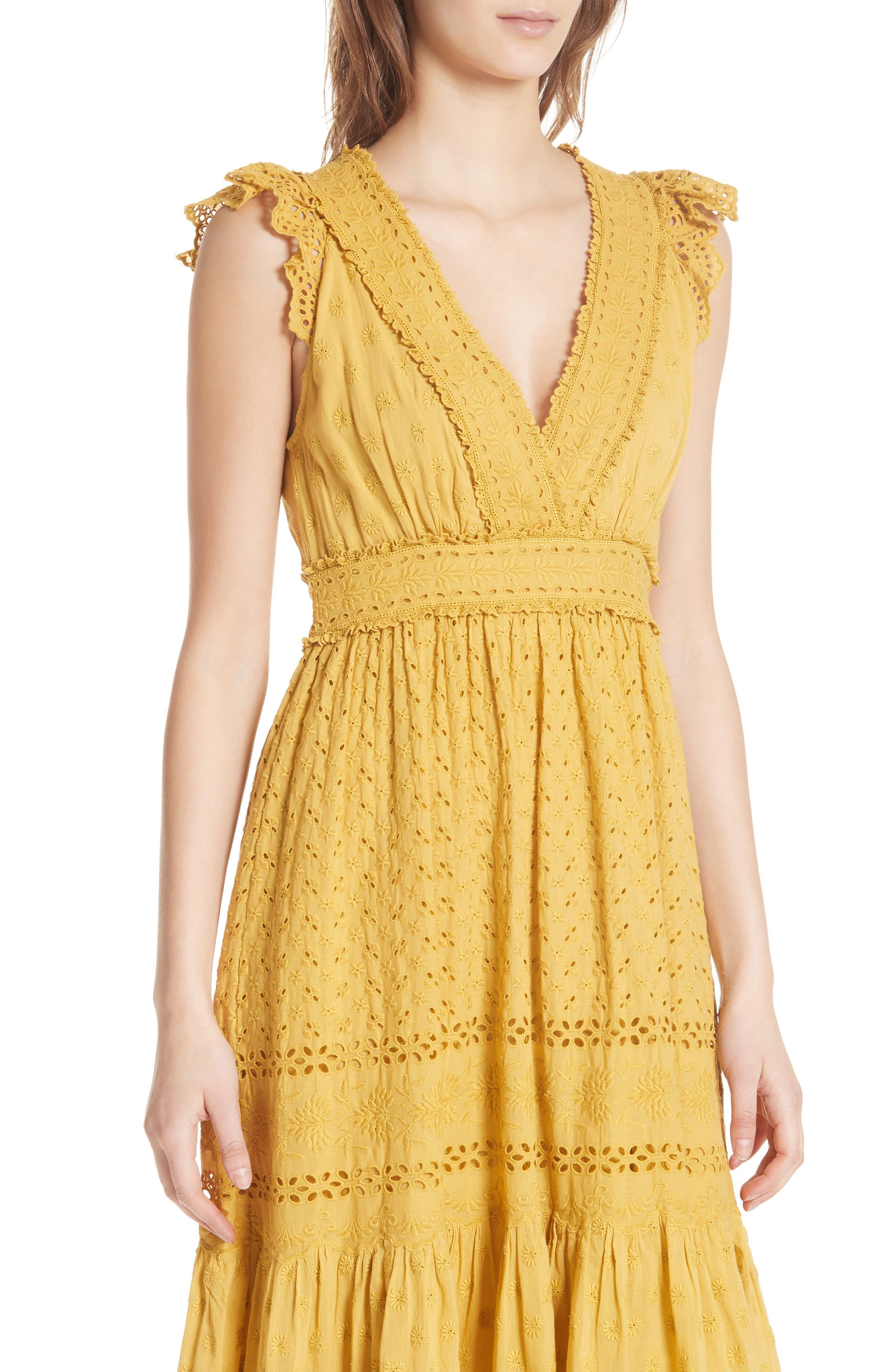 Marjorie Eyelet Dress,                             Alternate thumbnail 4, color,                             700