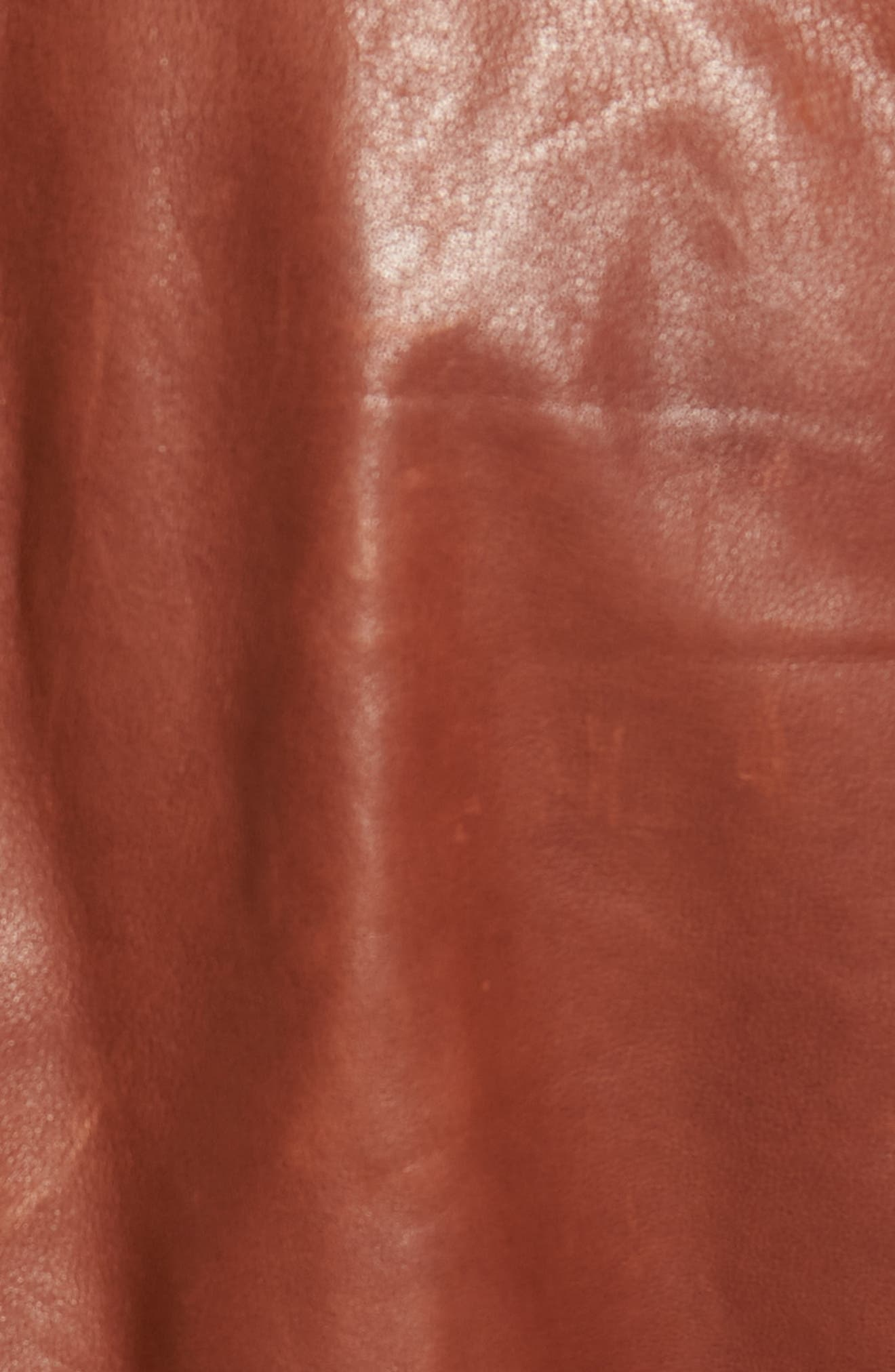 Classic Leather Bomber Jacket,                             Alternate thumbnail 6, color,