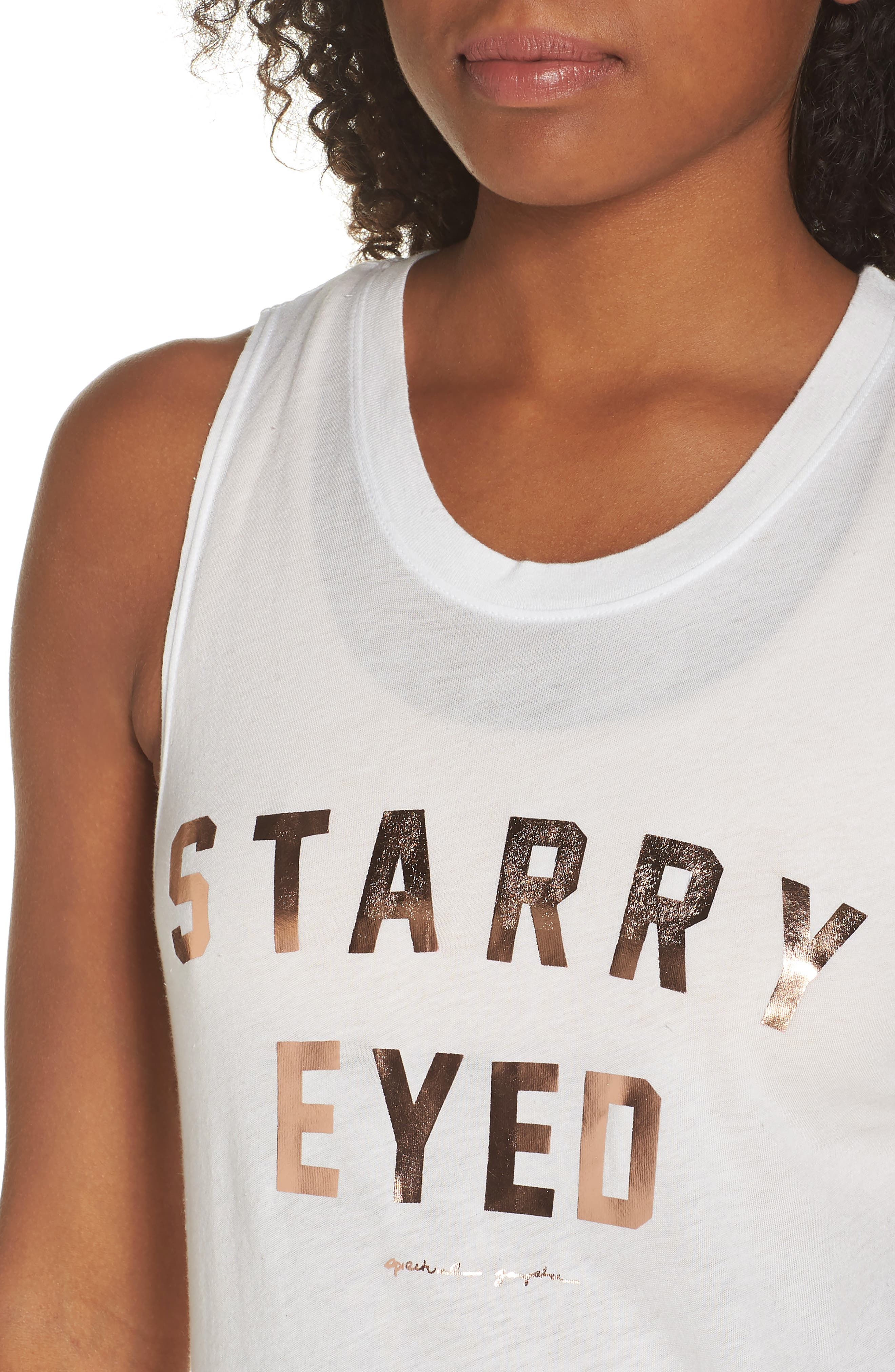 Spirtual Gangster Starry Eyed Muscle Tee,                             Alternate thumbnail 4, color,                             254