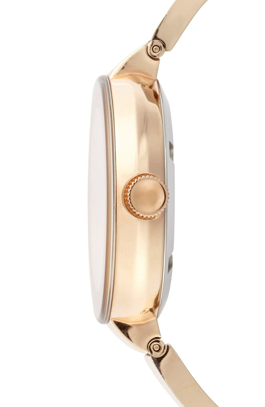 'Bold' Crystal Accent Bangle Watch, 34mm,                             Alternate thumbnail 3, color,                             711