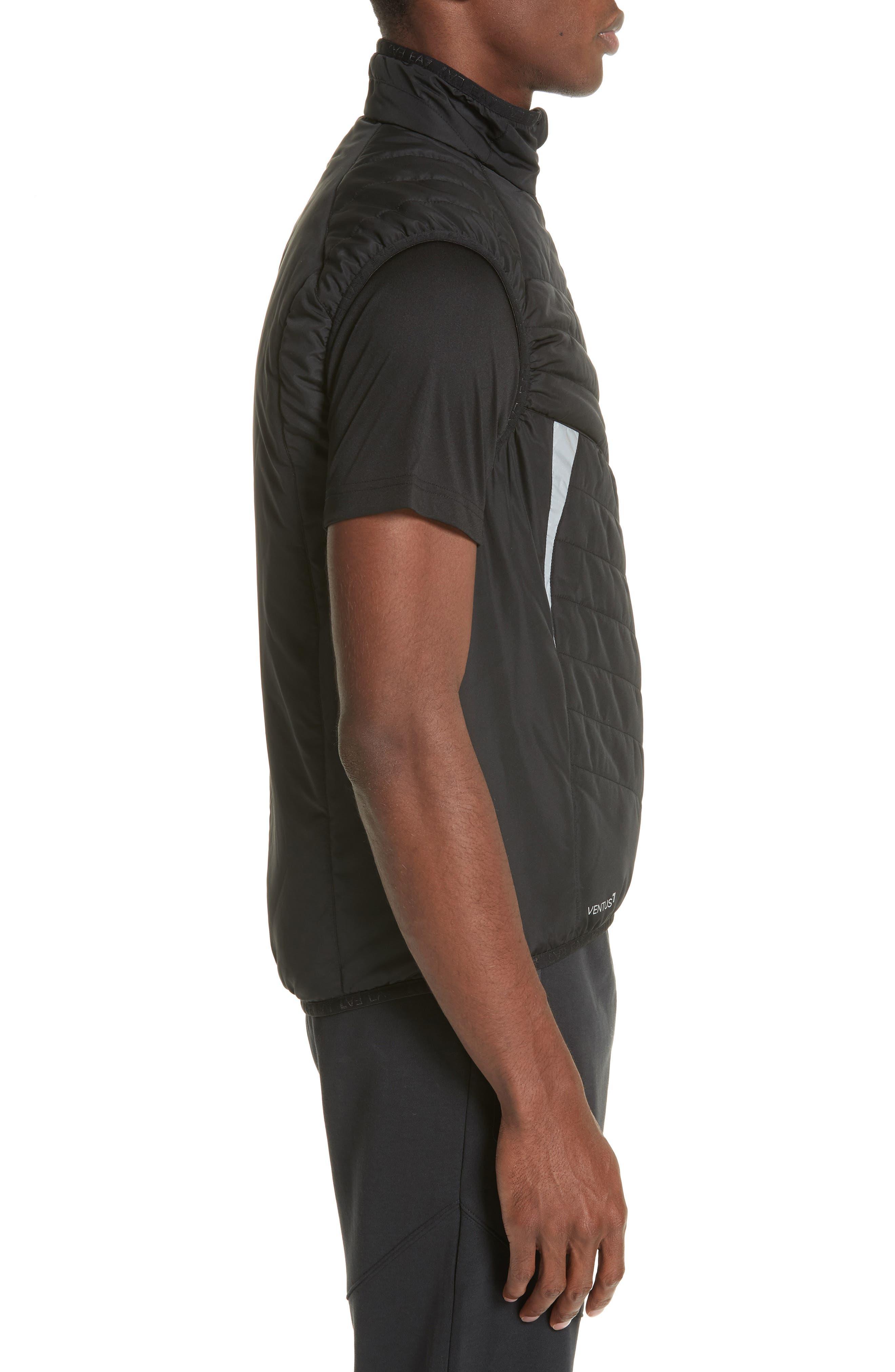Water Resistant Vest,                             Alternate thumbnail 3, color,                             BLACK