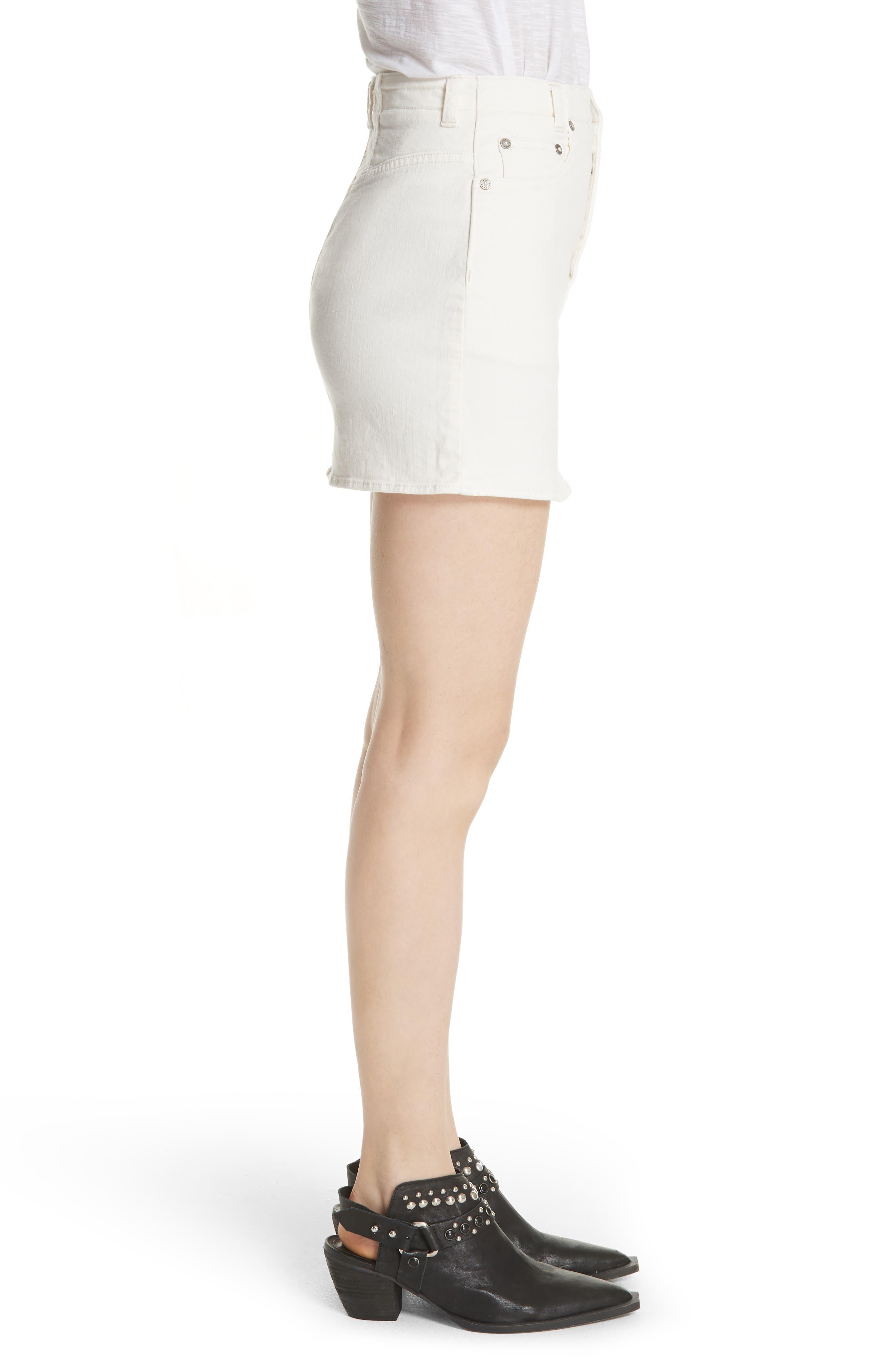 She's All That Denim Skirt,                             Alternate thumbnail 3, color,                             WHITE