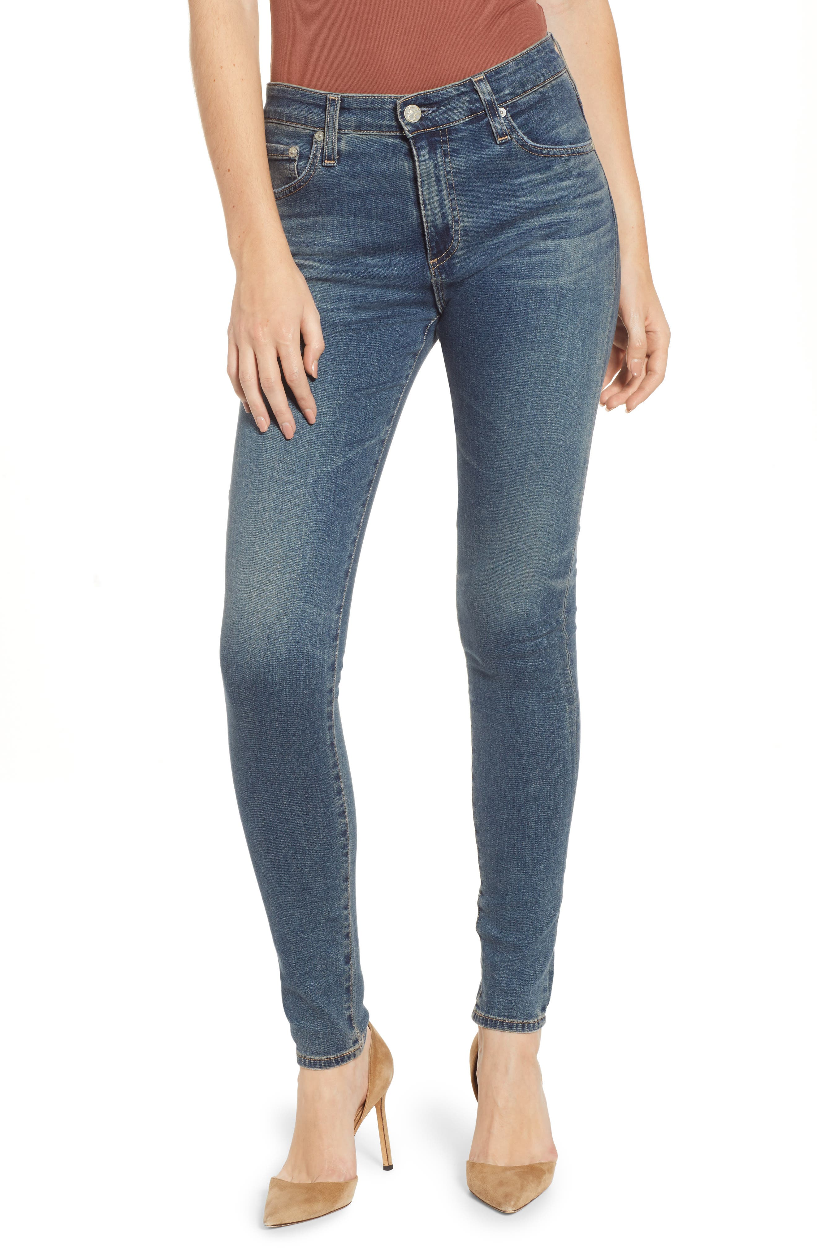 The Farrah High Waist Skinny Jeans,                             Main thumbnail 1, color,                             12Y TENACIOUS