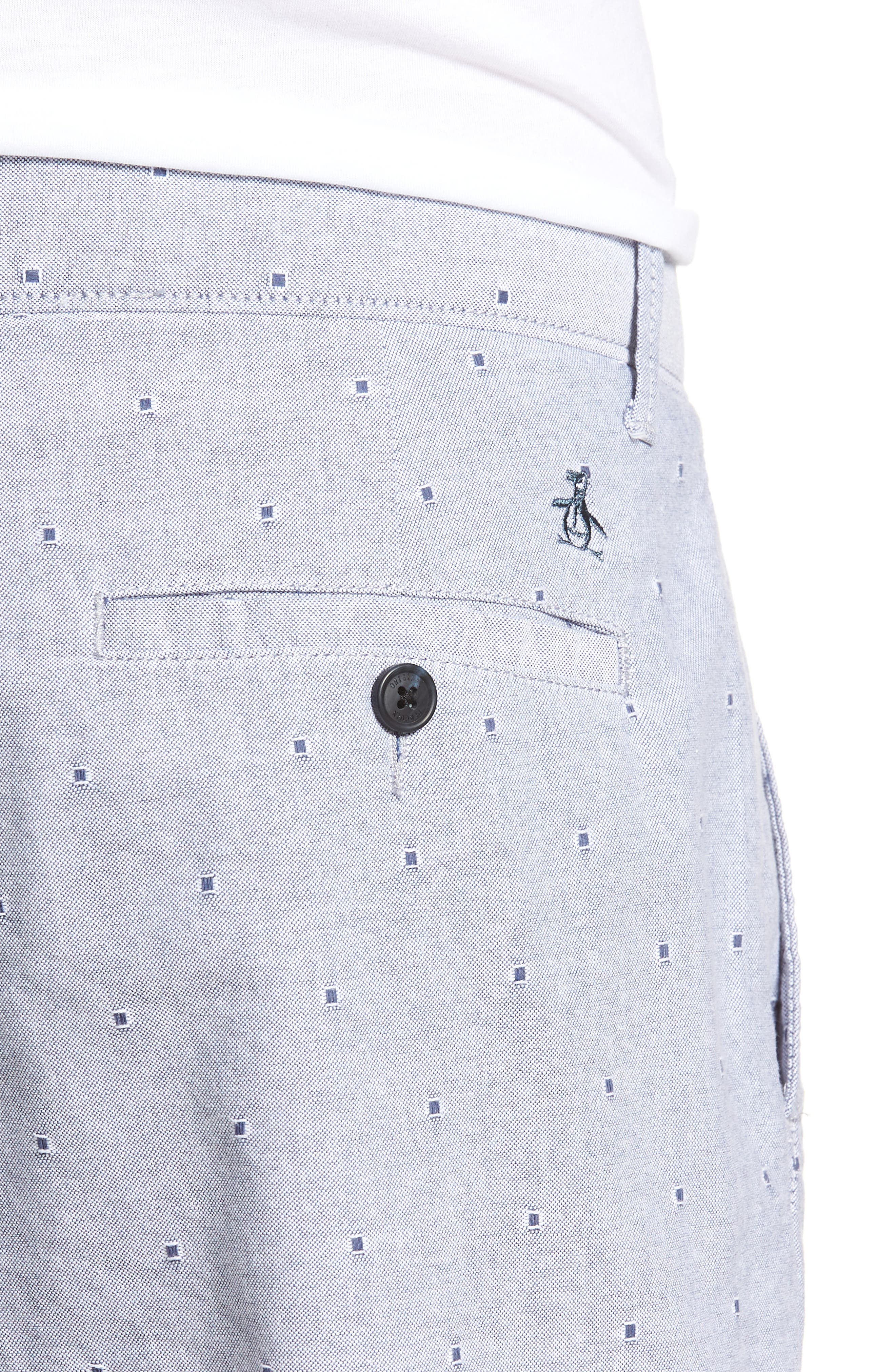 Dobby Dot Slim Fit Oxford Shorts,                             Alternate thumbnail 4, color,                             425