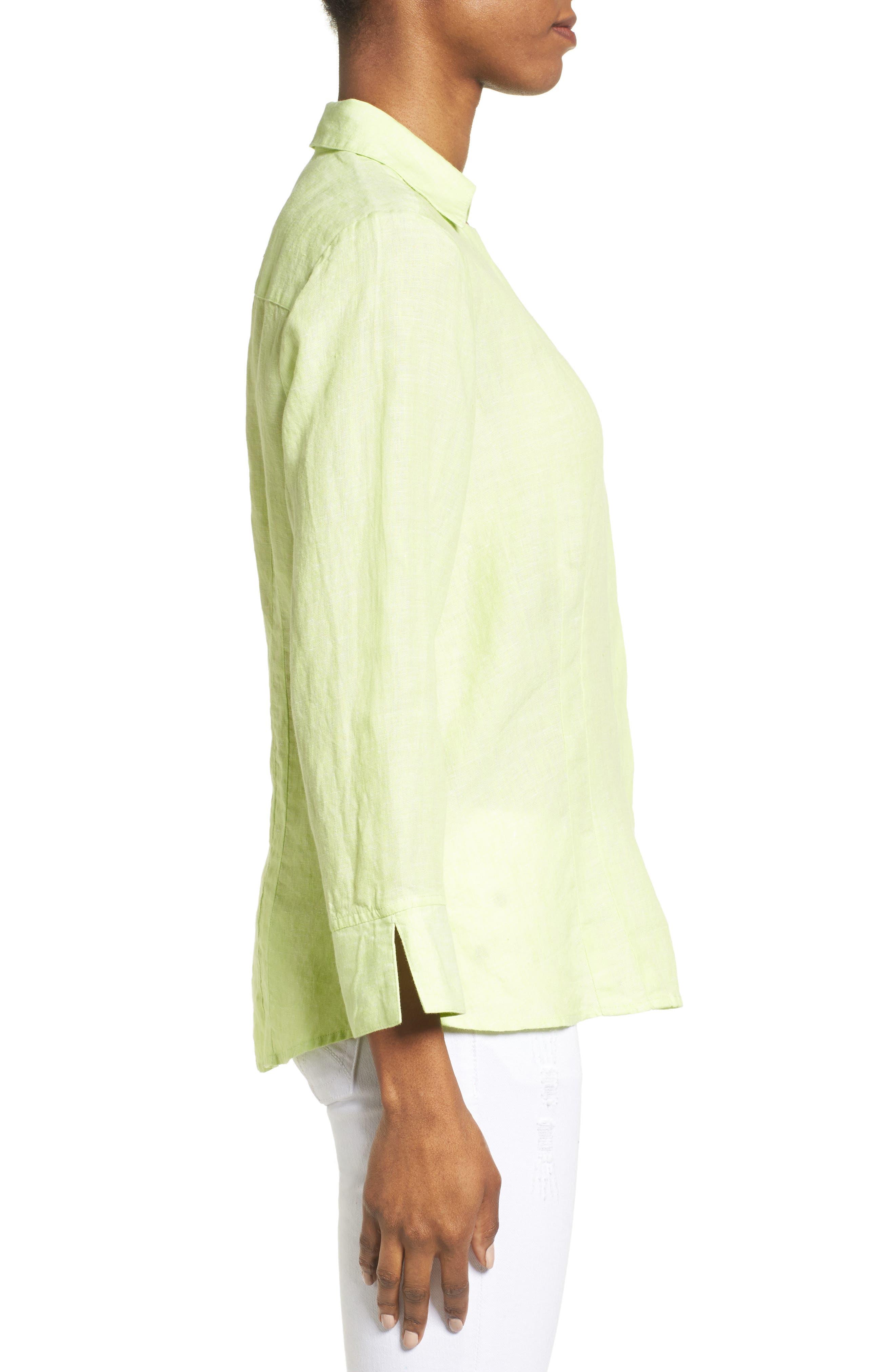 Linen Chambray Shirt,                             Alternate thumbnail 19, color,